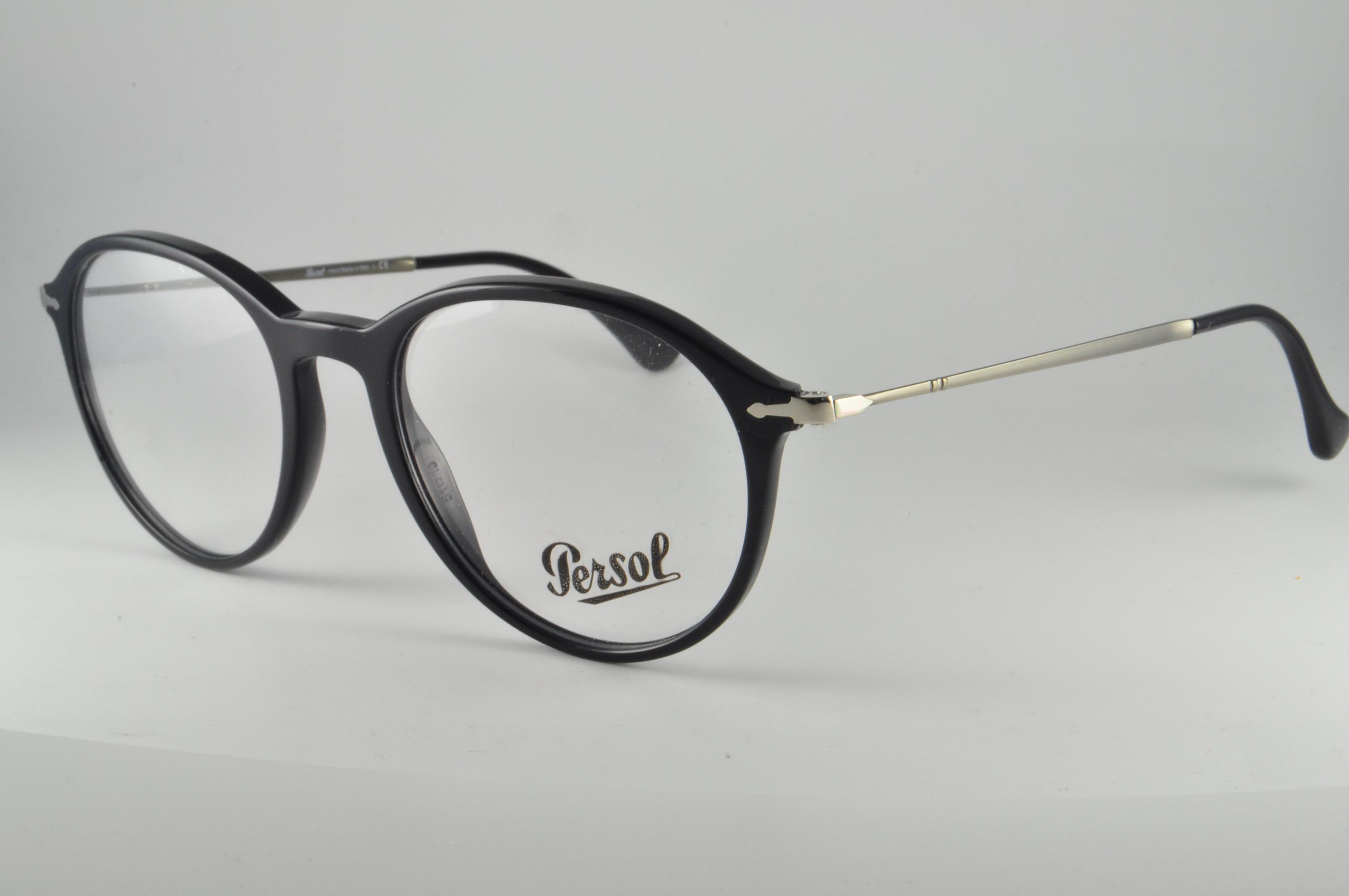93d0ff10095 Image is loading Persol-Eyeglasses-PO-3125V-95-Black-Size-51-