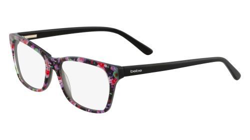BEBE Eyeglasses BB5118 001 Jet Floral 55MM 788678064998 | eBay