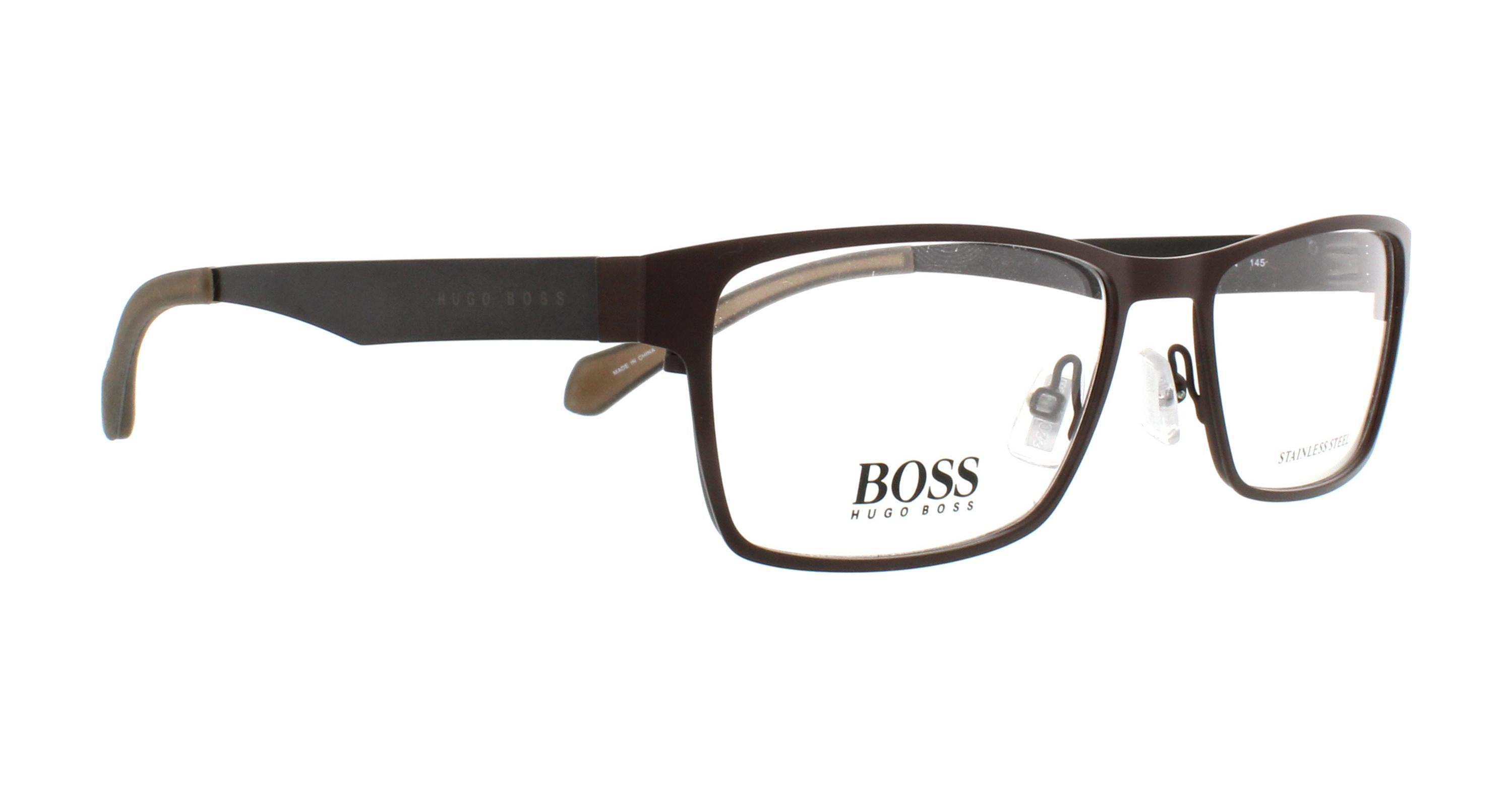 aa9ab652c3 HUGO BOSS Eyeglasses 0873 005N Matte Brown Gray 54MM