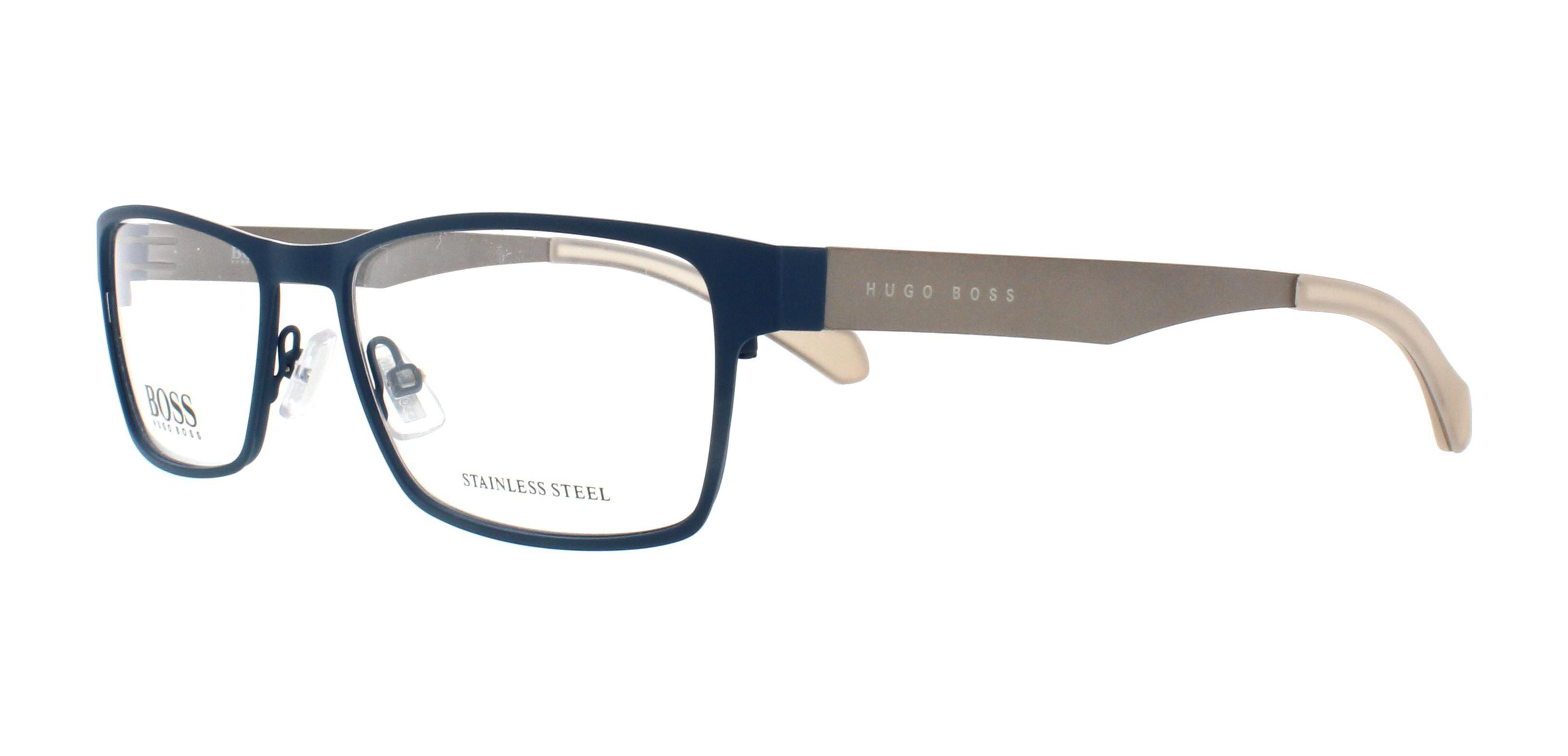 2afe4dd6ef HUGO BOSS Eyeglasses 0873 005Q Matte Blue Gray 54MM 762753502926