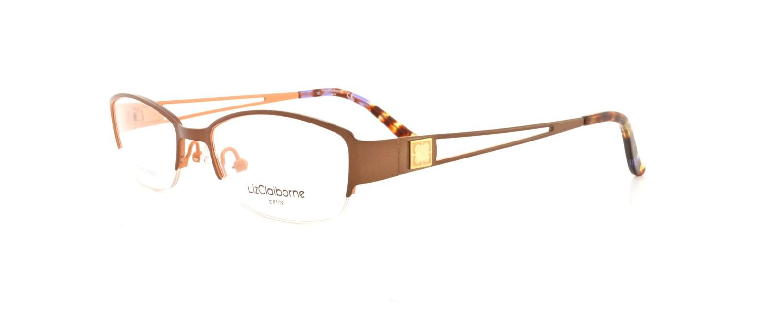 LIZ CLAIBORNE Eyeglasses 417 0FL9 Camel Peach 48MM 716737057957 | eBay