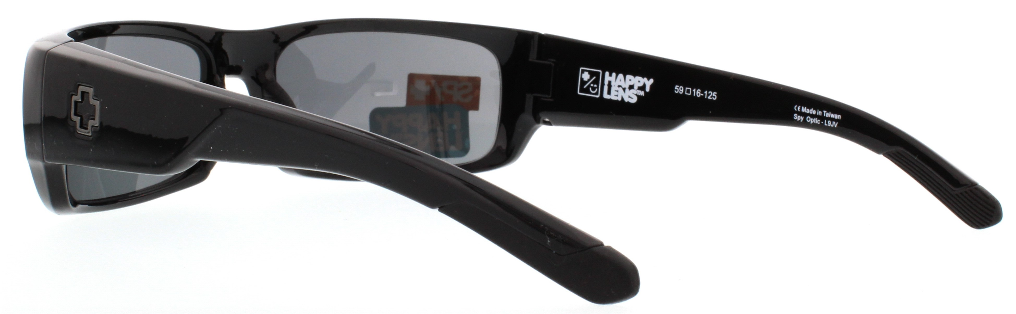 54f3928ca01 Spy Optic Caliber Wrap Sunglasses Black  Happy Gray  Green 59 mm ...