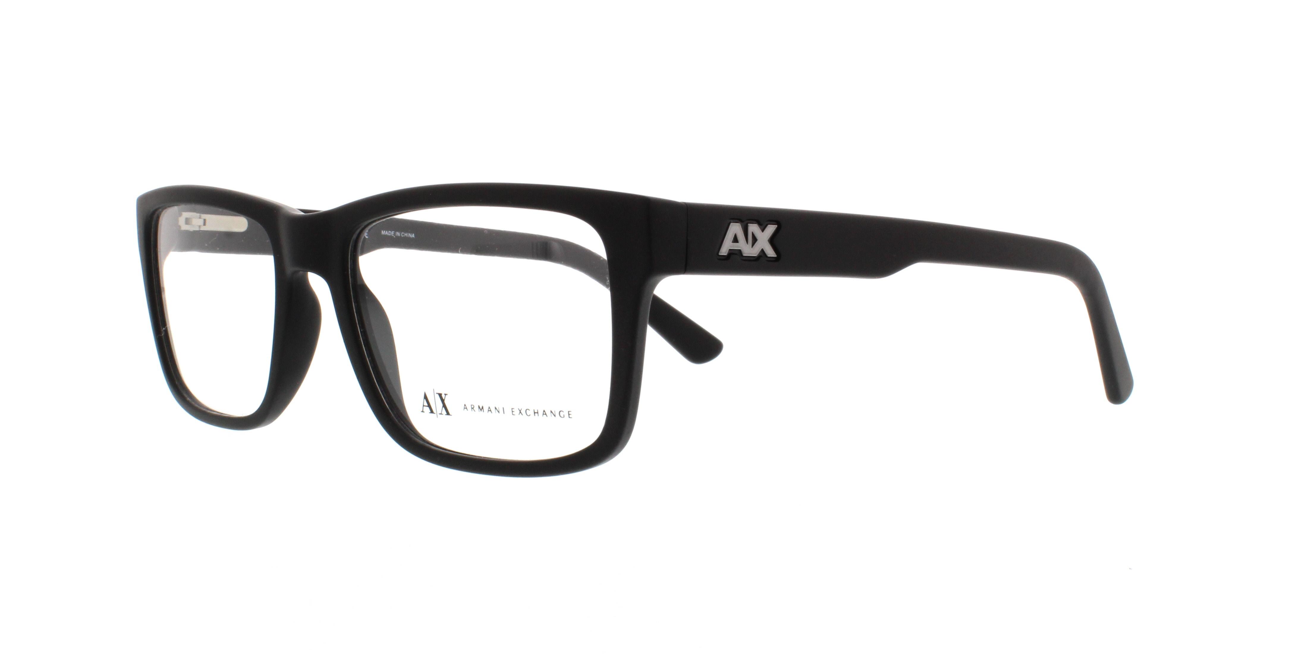 ARMANI EXCHANGE Eyeglasses AX3016 8078 Matte Black 53MM ...