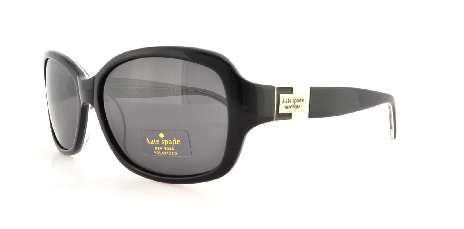 b7e2f484d3 KATE SPADE Sunglasses ANNIKA S JBHP Black Silver Sparkle 56MM