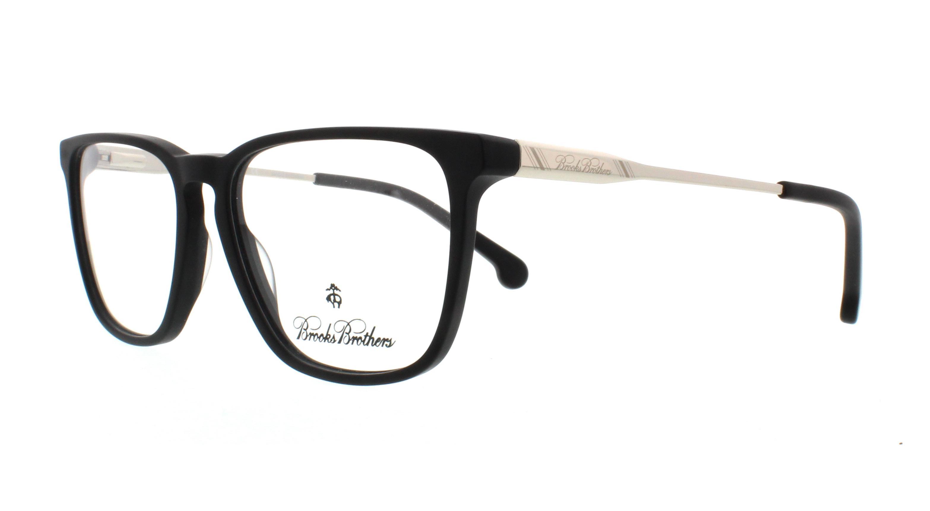 cfd949fb257 BROOKS BROTHERS Eyeglasses BB2034 6126 Matte Black Silver 52MM