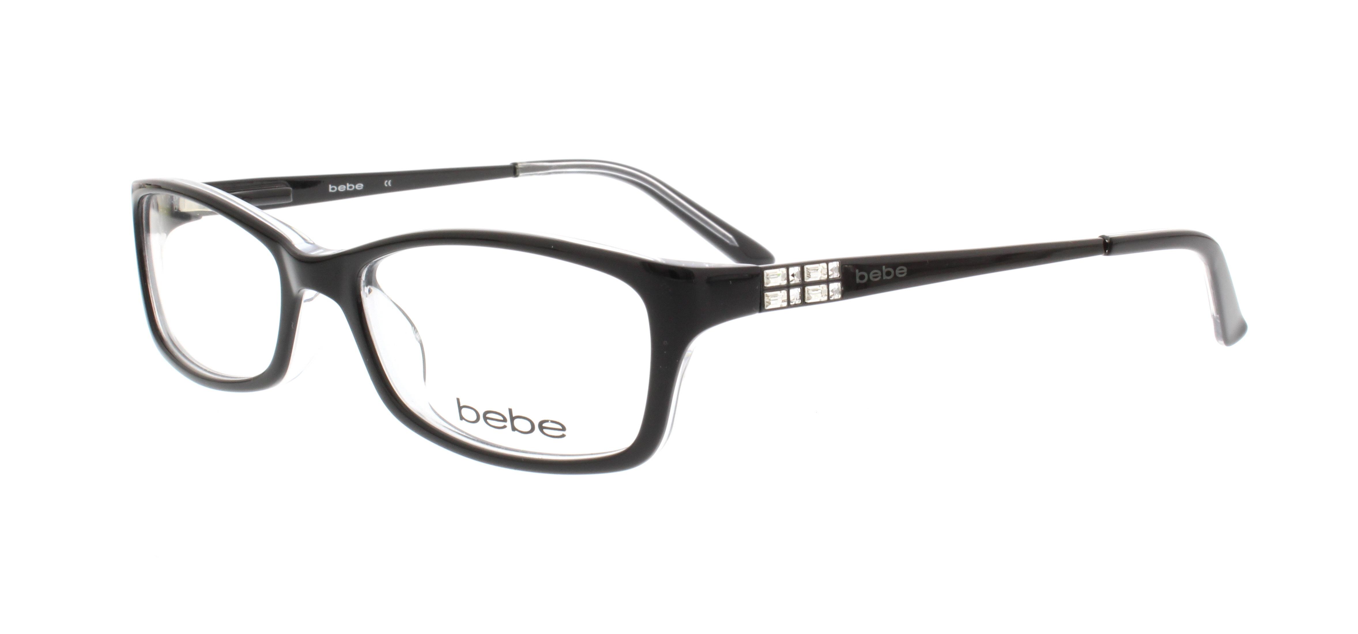 BEBE Eyeglasses BB5044 ENVY 001 Jet Crystal 53MM   eBay
