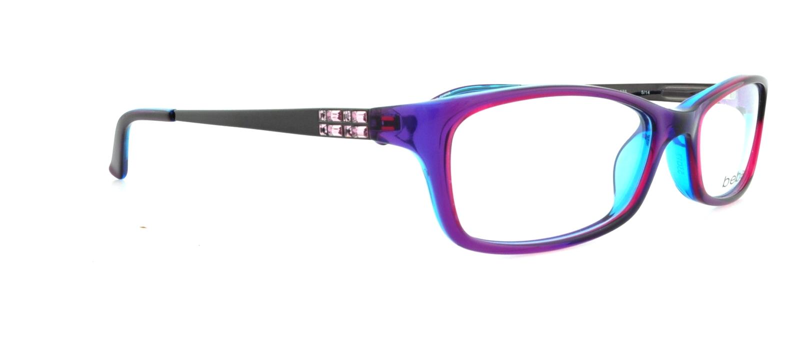 BEBE Eyeglasses BB5044 ENVY 513 Purple Crystal 53MM 788678515933 | eBay
