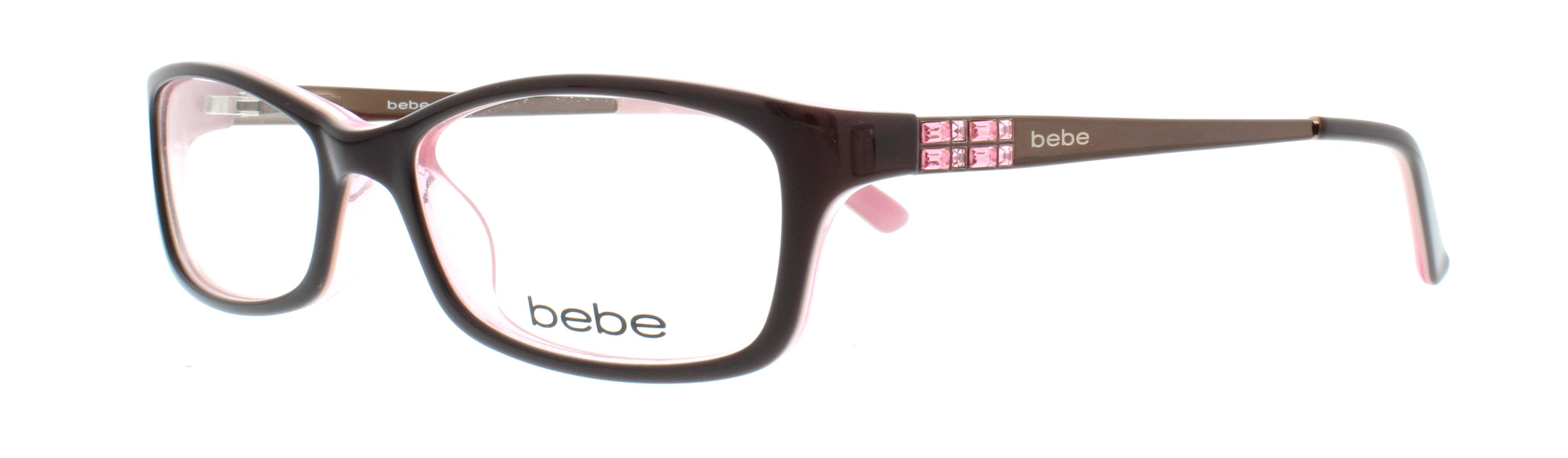BEBE Eyeglasses BB5044 ENVY 607 Brown Rose 53MM 788678515940 | eBay