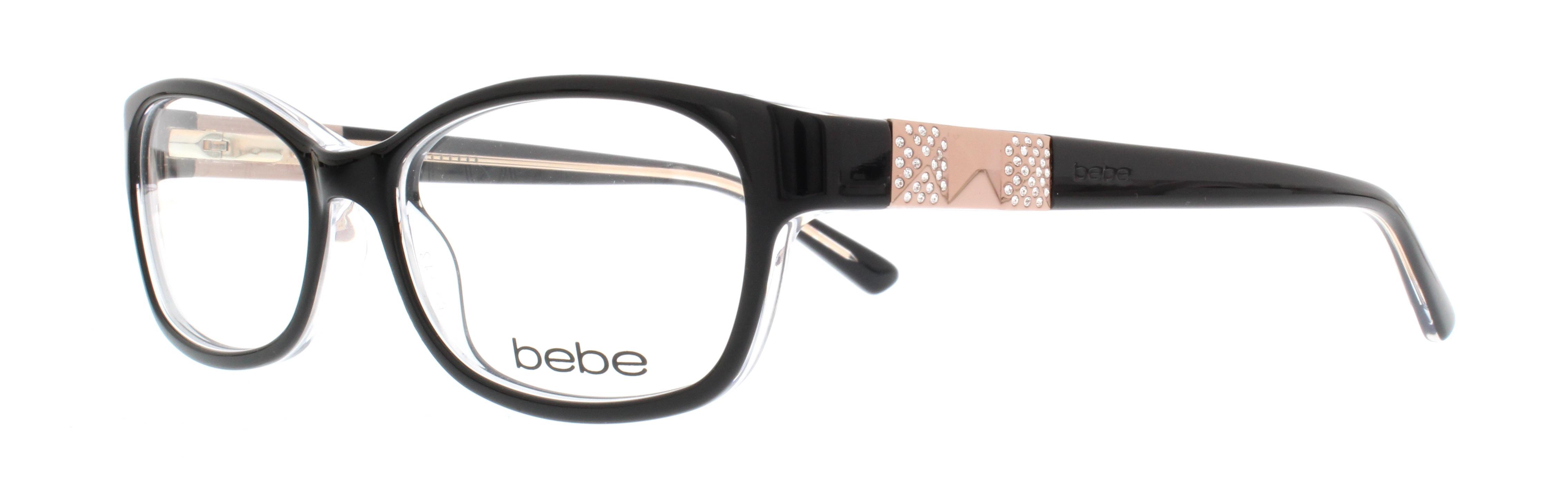 BEBE Eyeglasses BB5082 LADY VEGAS 001 Jet 52MM | eBay