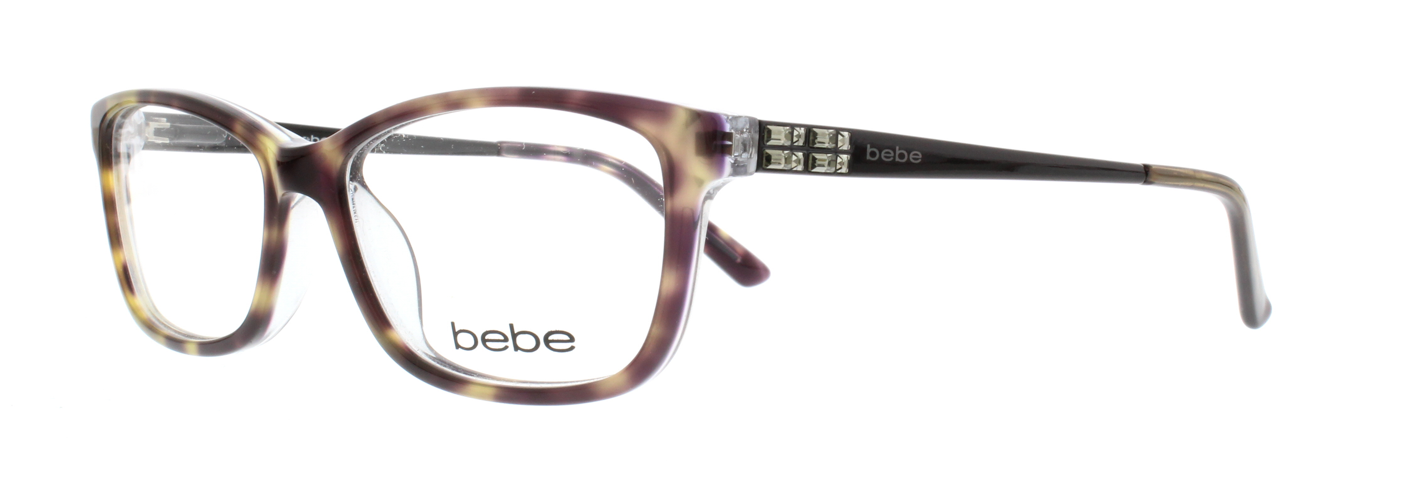 BEBE Eyeglasses BB5084 LOVE THE NIGHTLIFE 226 Jet Tortoise 52MM ...