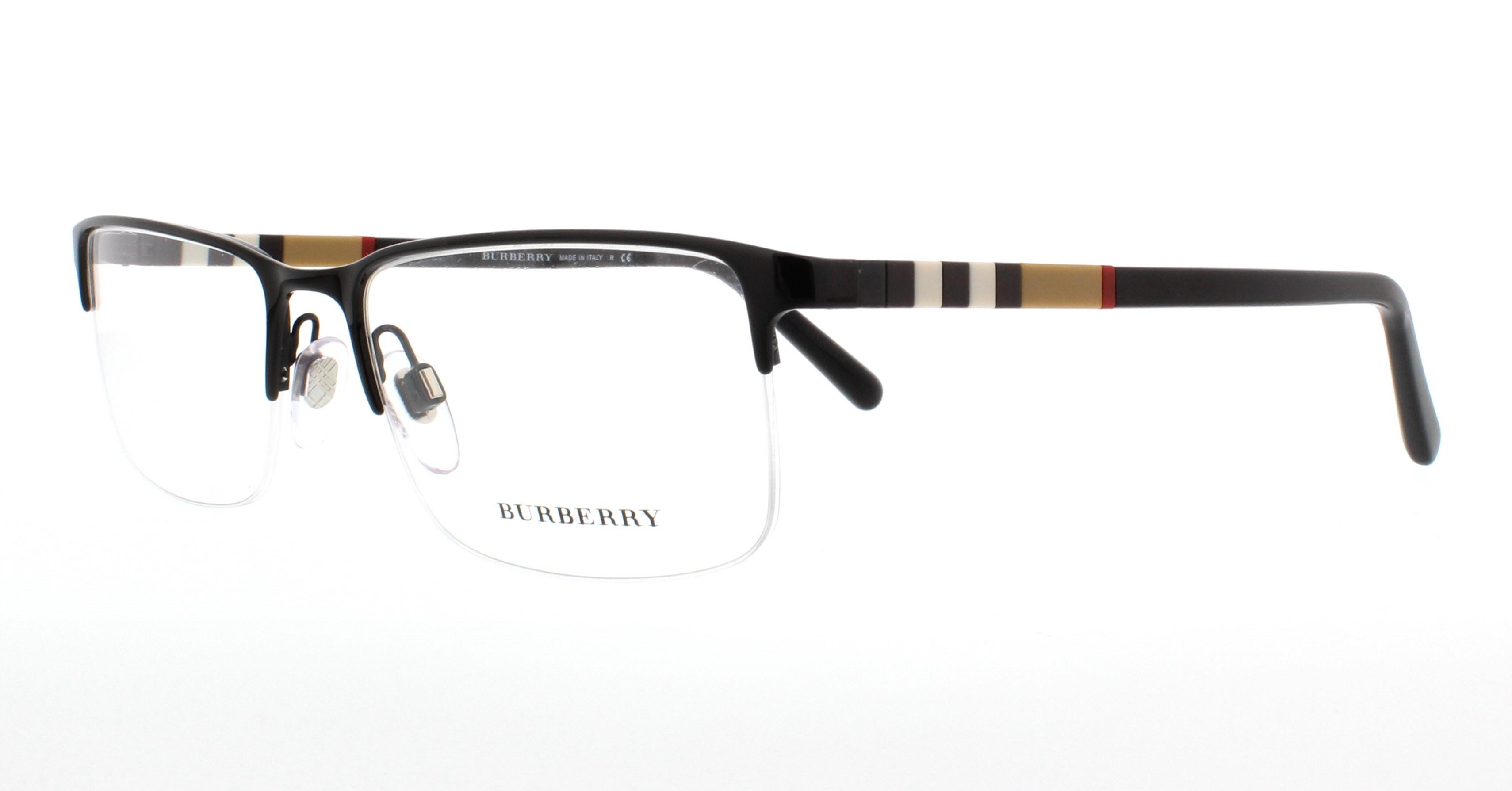 BURBERRY Eyeglasses BE1282 1001 Black 55MM 8053672416893 | eBay