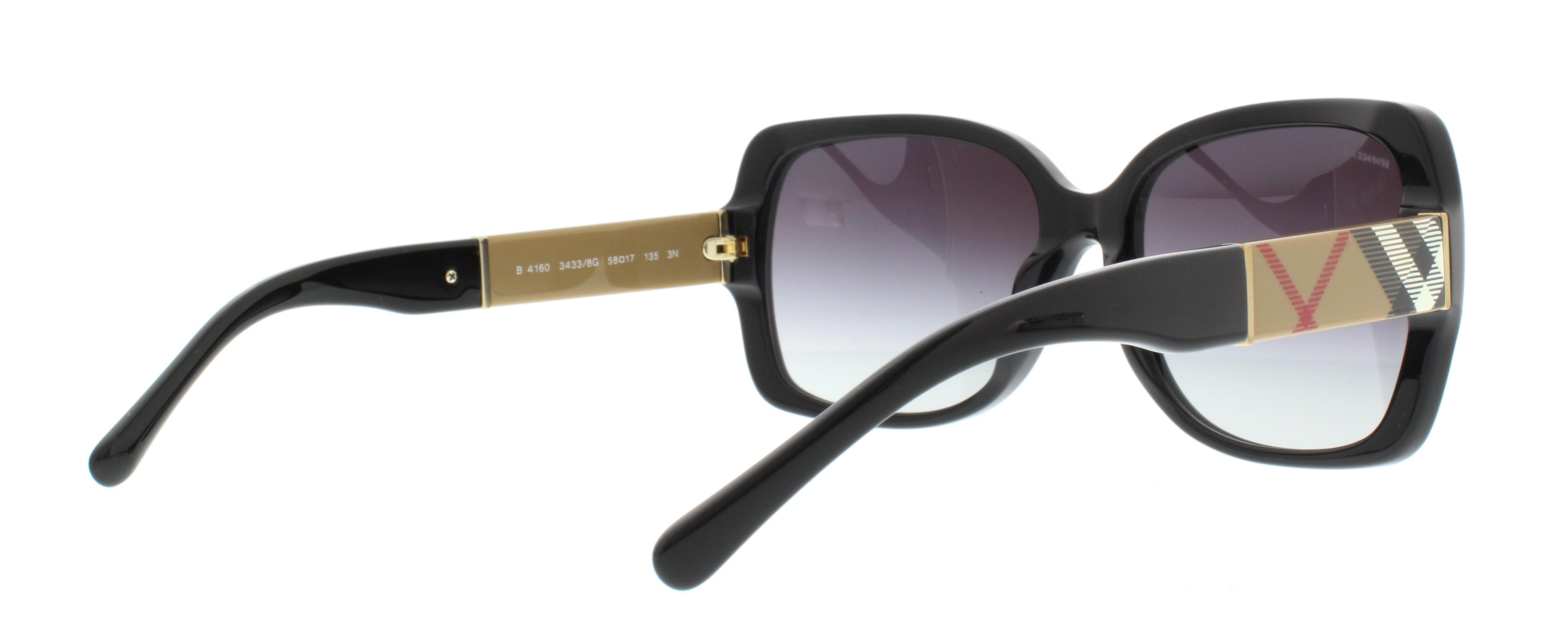 fb6ea7a586e BURBERRY Sunglasses BE4160 34338G Black 58MM