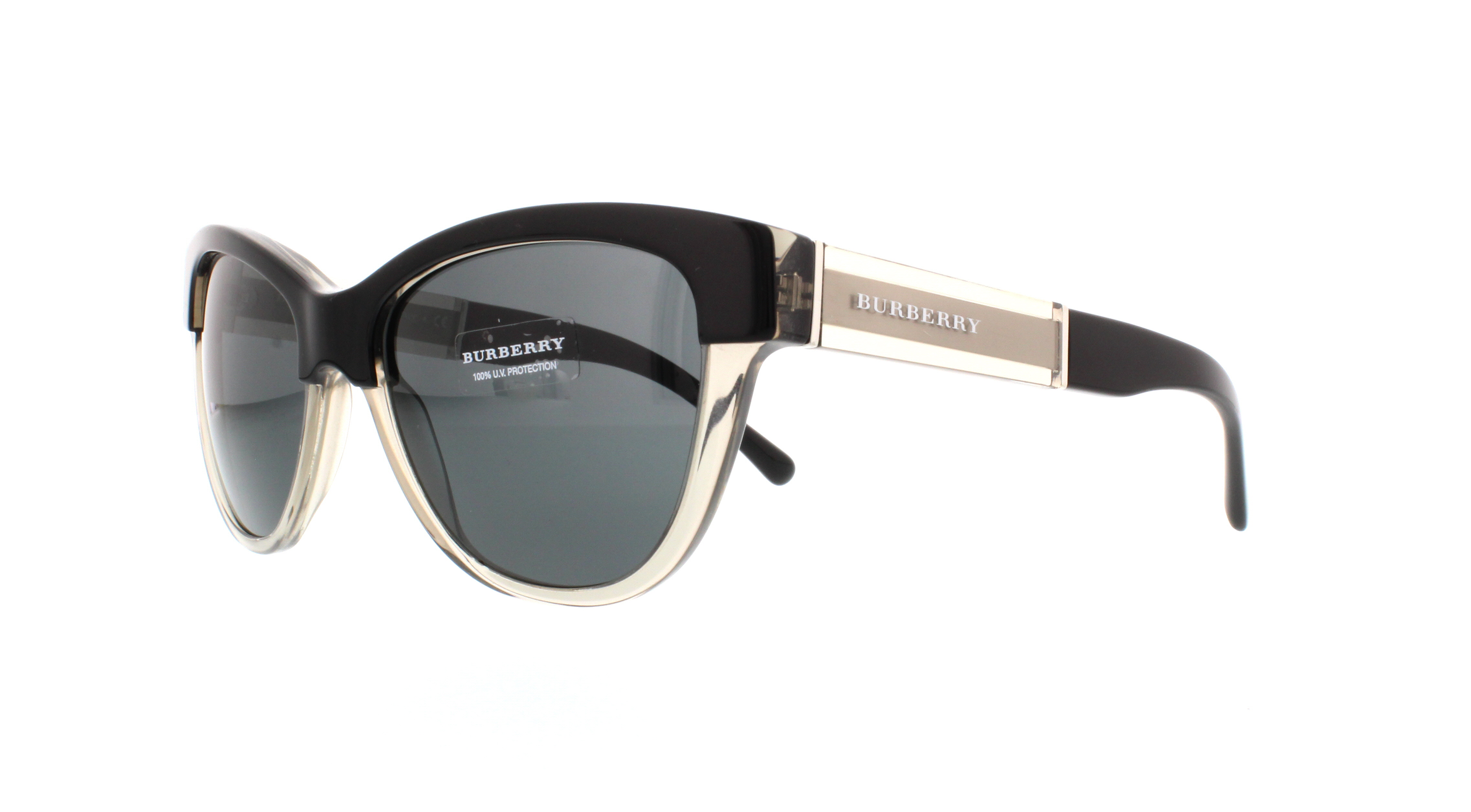 6803cf5d7a59 BURBERRY Sunglasses BE4206 355887 Top Black On Grey 55MM
