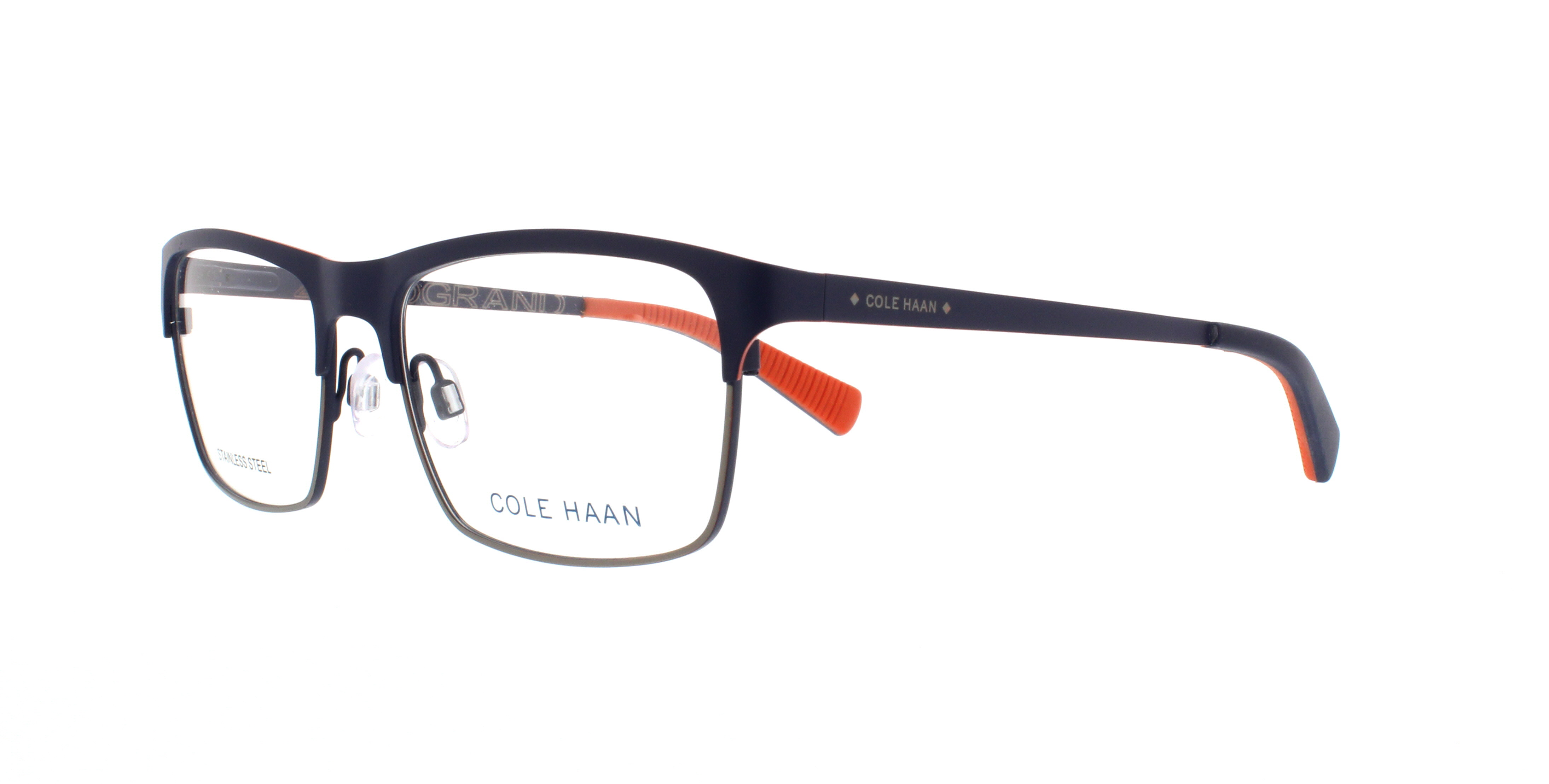 COLE HAAN Eyeglasses CH4010 414 Navy 54MM 788678563200 | eBay