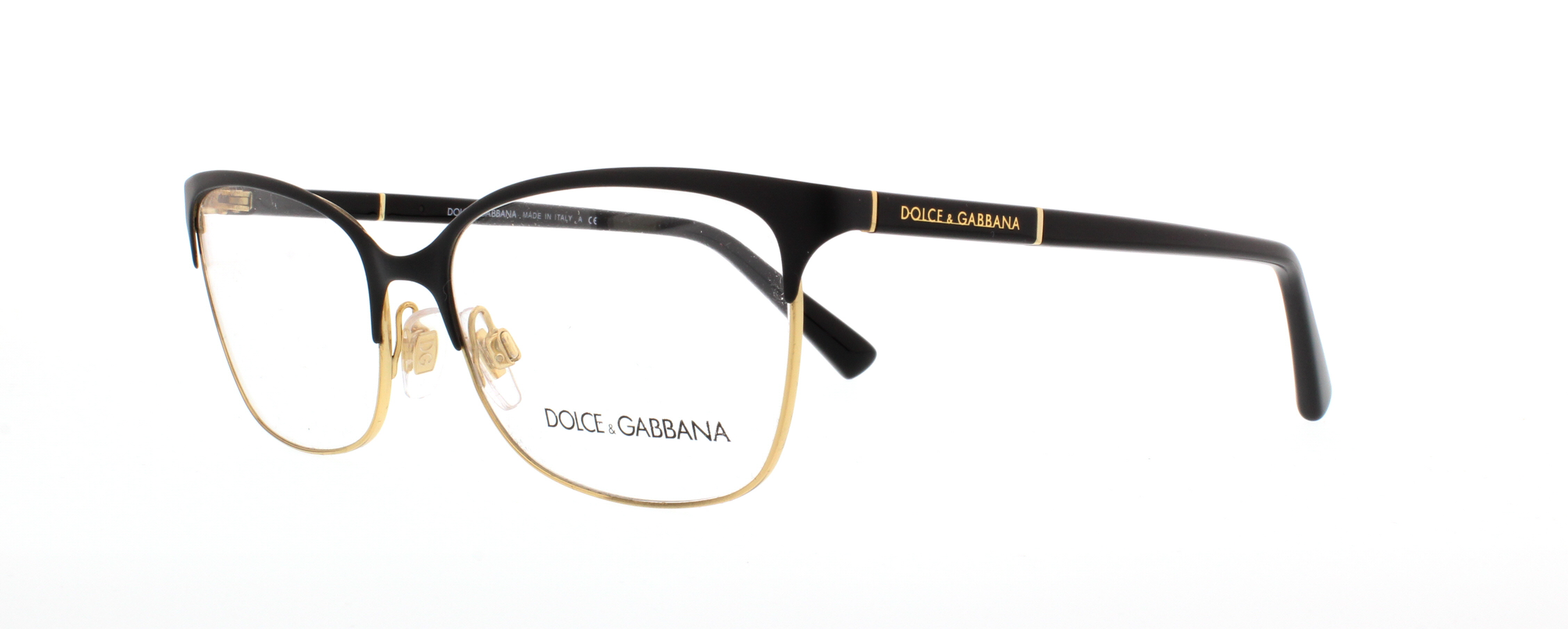 d36fffdc03 DOLCE   GABBANA Eyeglasses DG1268 025 Black Gold 54MM