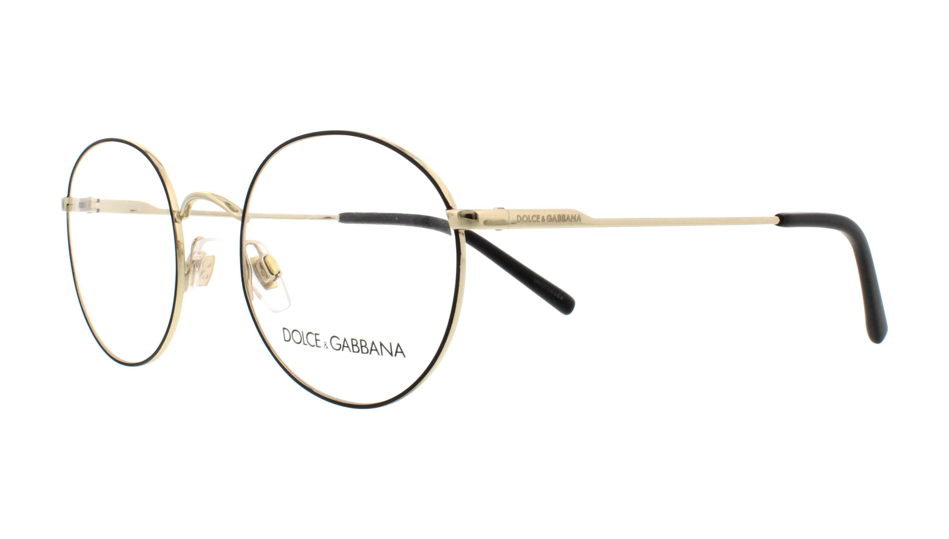 DOLCE & GABBANA Eyeglasses DG1290 1305 Matte Black/Pale Gold 50MM ...