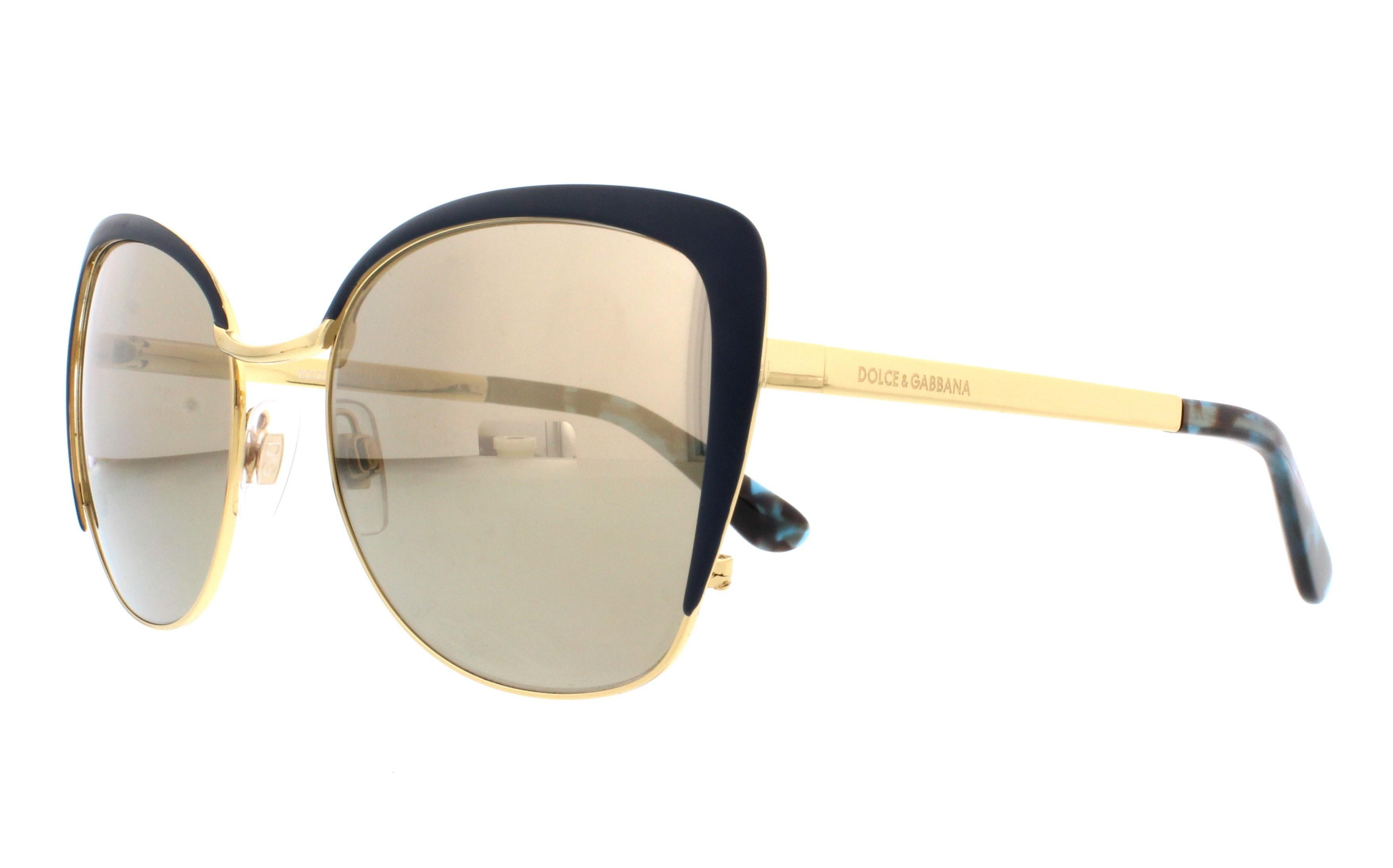 341340151242f DOLCE   GABBANA Sunglasses DG2143 02 6G Gold Petroleum 57MM ...