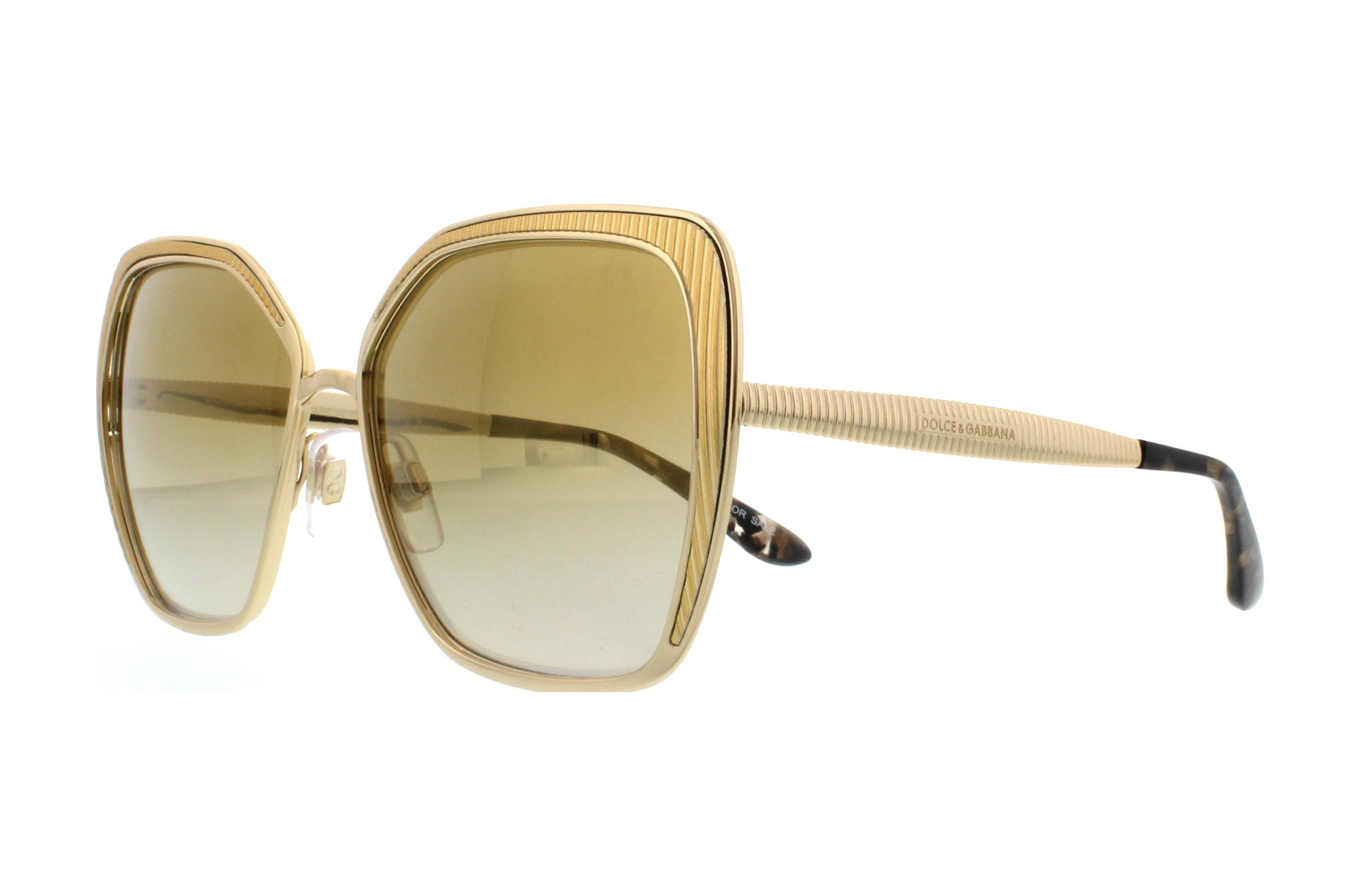 0813d3e8e5 Details about DOLCE & GABBANA Sunglasses DG2197 02/6E Gold 56MM