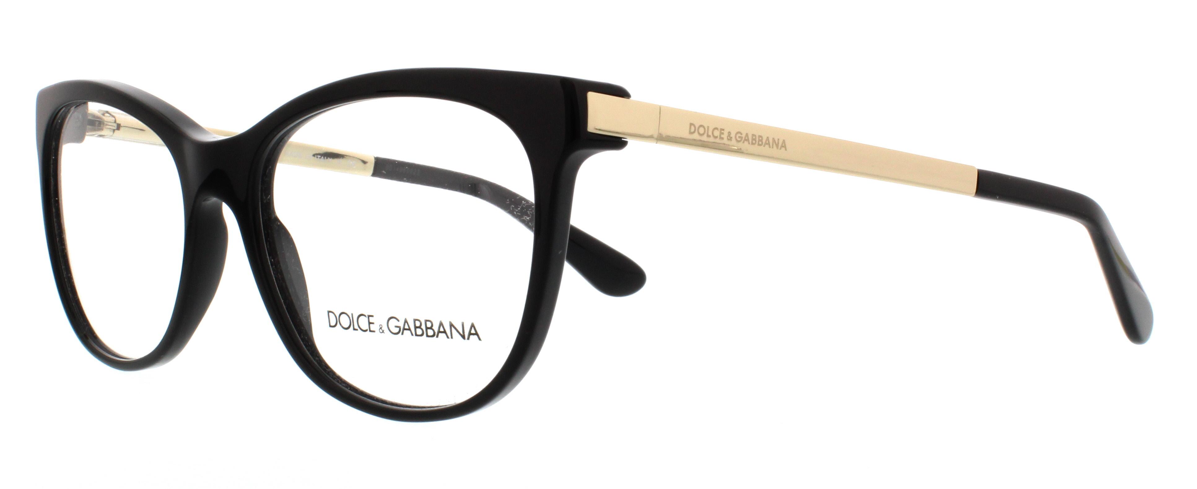 DOLCE & GABBANA Eyeglasses DG3234 501 Black 54MM 8053672421828 | eBay