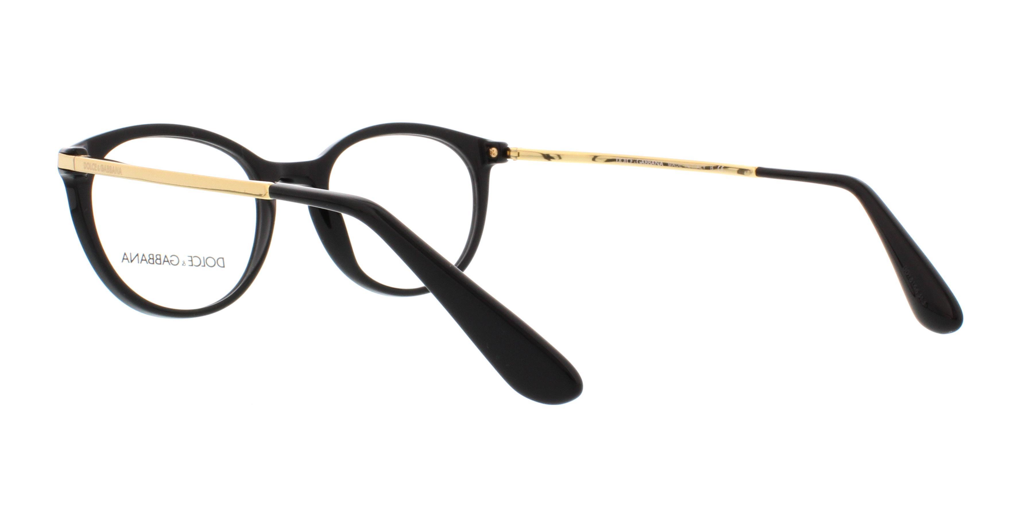 dolce gabbana eyeglasses dg3242 501 black 48mm - Dolce And Gabbana Eyeglass Frames