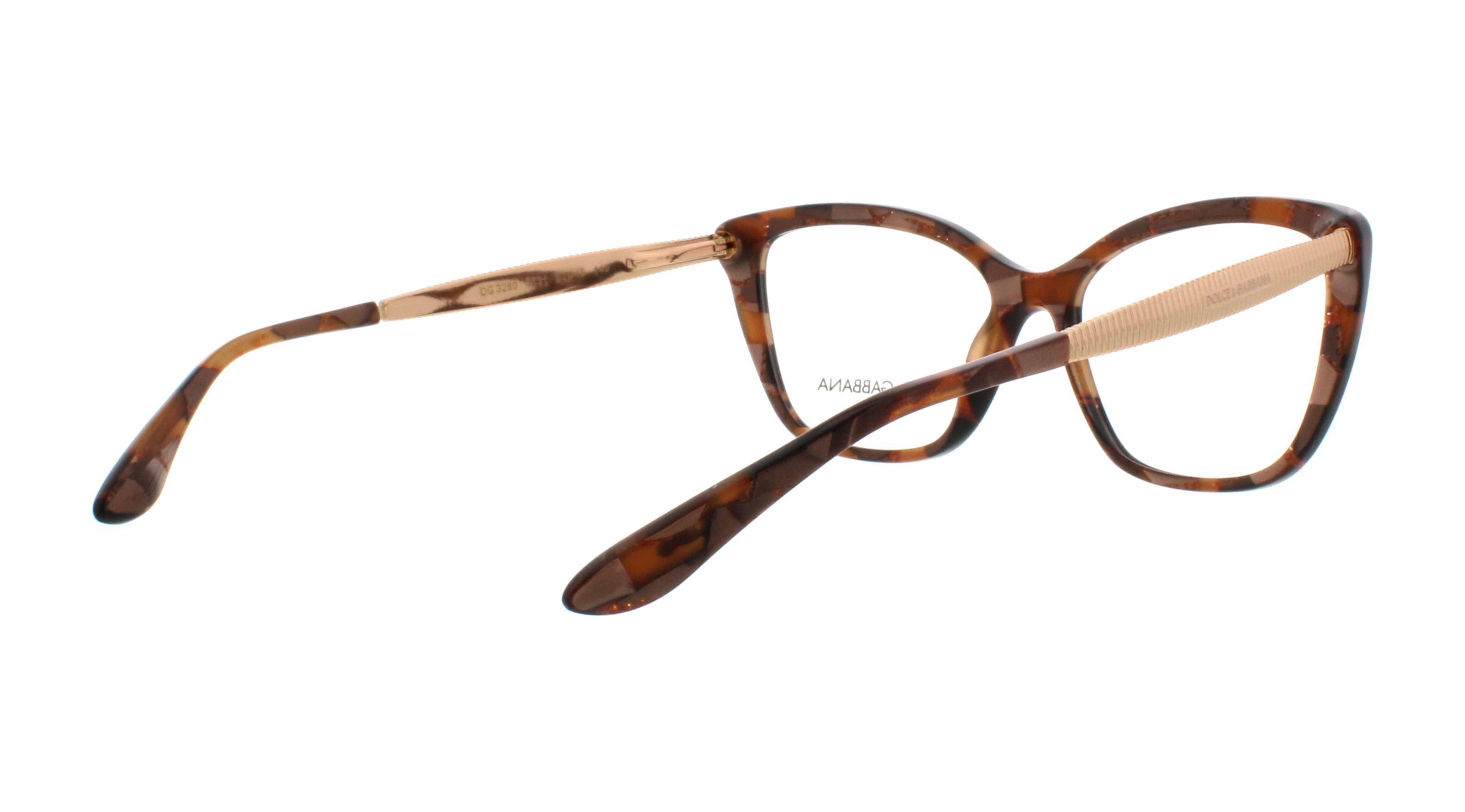 a1fc25bf2c90 DOLCE   GABBANA Eyeglasses DG3280 3131 Cube Bronze 52MM ...