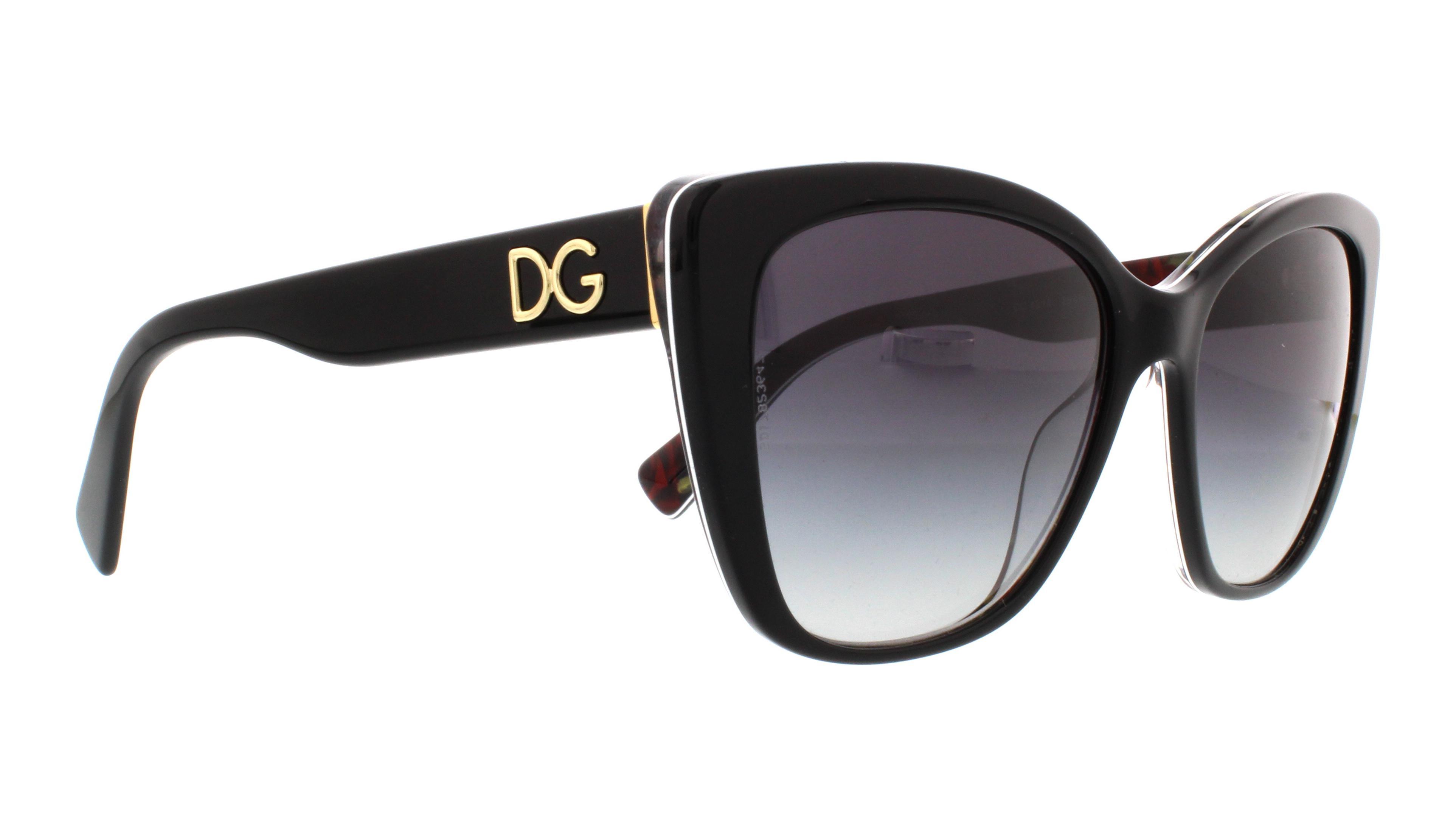 dolce gabbana sunglasses dg4216 29408g black on printing roses 55mm - Dolce And Gabbana Frames