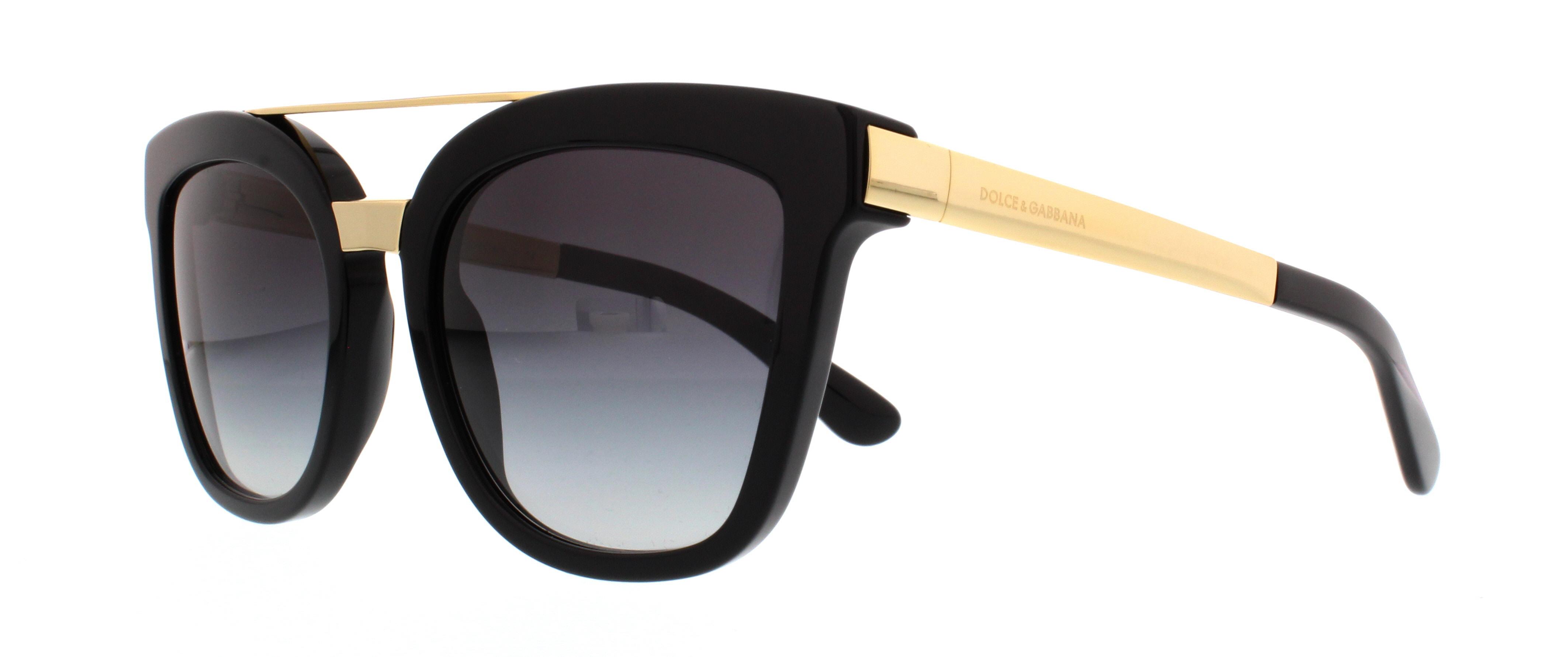 Dolce and Gabbana DG4269 Sonnenbrille Schwarz und Gold 5018G 54mm jzEgr0A