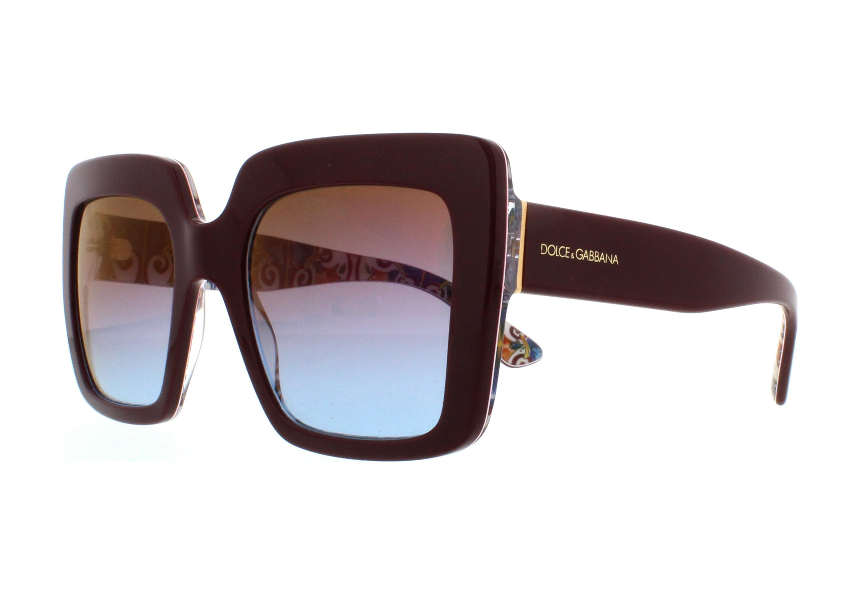 6bf9a53709b Details about DOLCE   GABBANA Sunglasses DG4310 317948 Bordeaux On New  Maiolica 52MM