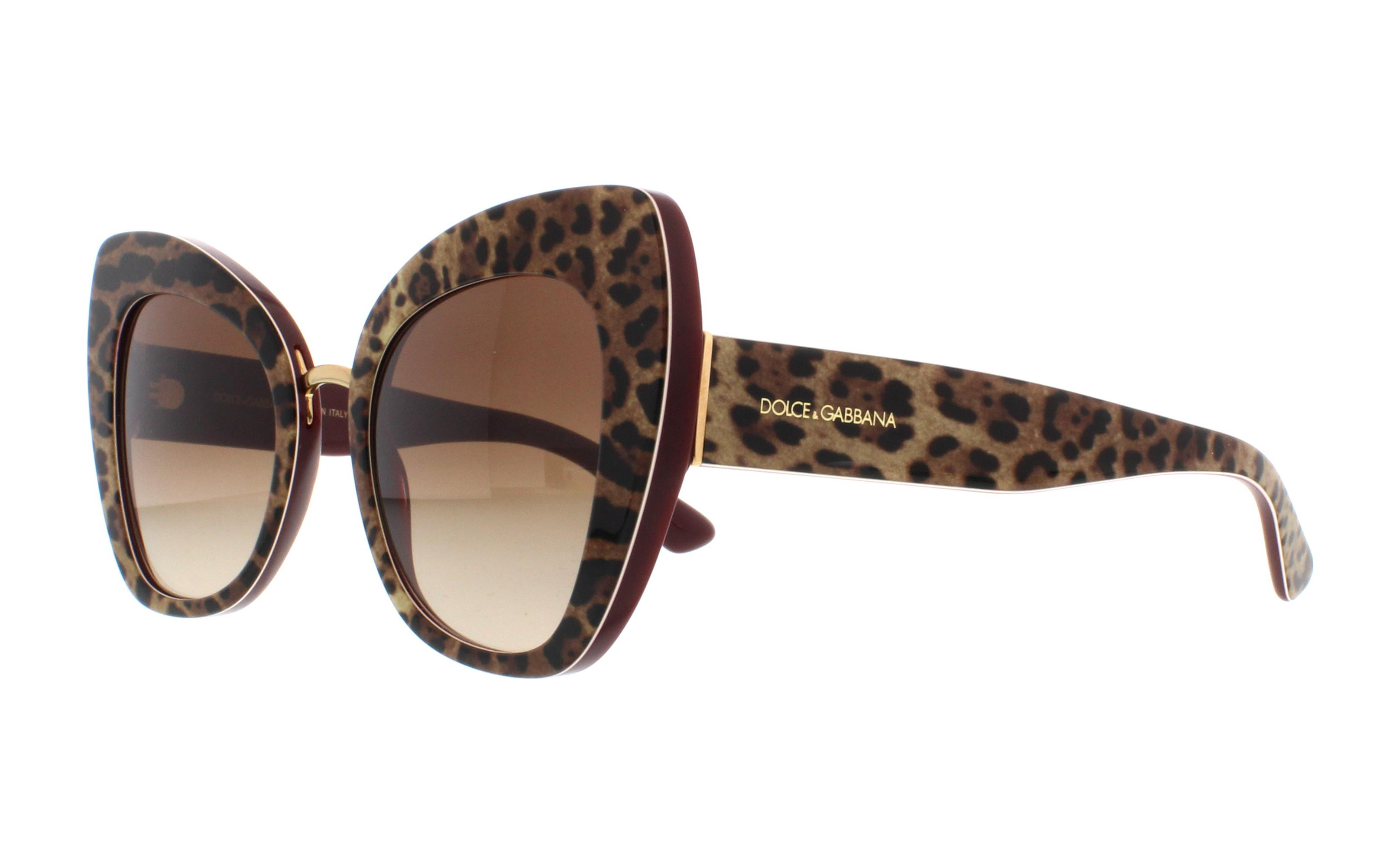 2fa33721db7 DOLCE   GABBANA Sunglasses DG4319F 316113 Leo On Bordeaux 51MM ...