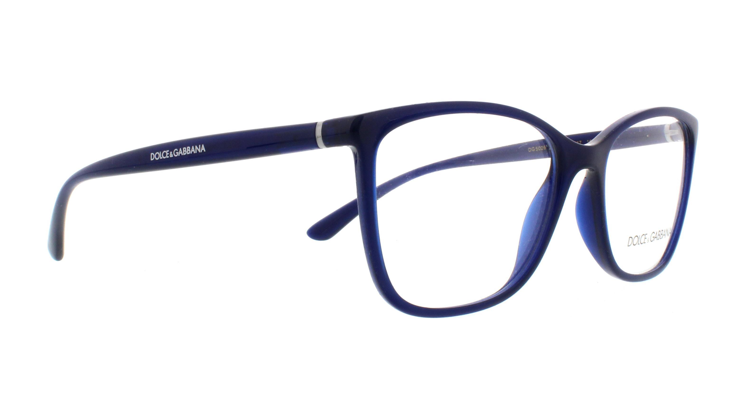 a652516b3178 DOLCE   GABBANA Eyeglasses DG5026 3094 Opal Blue 54MM 8053672822168 ...