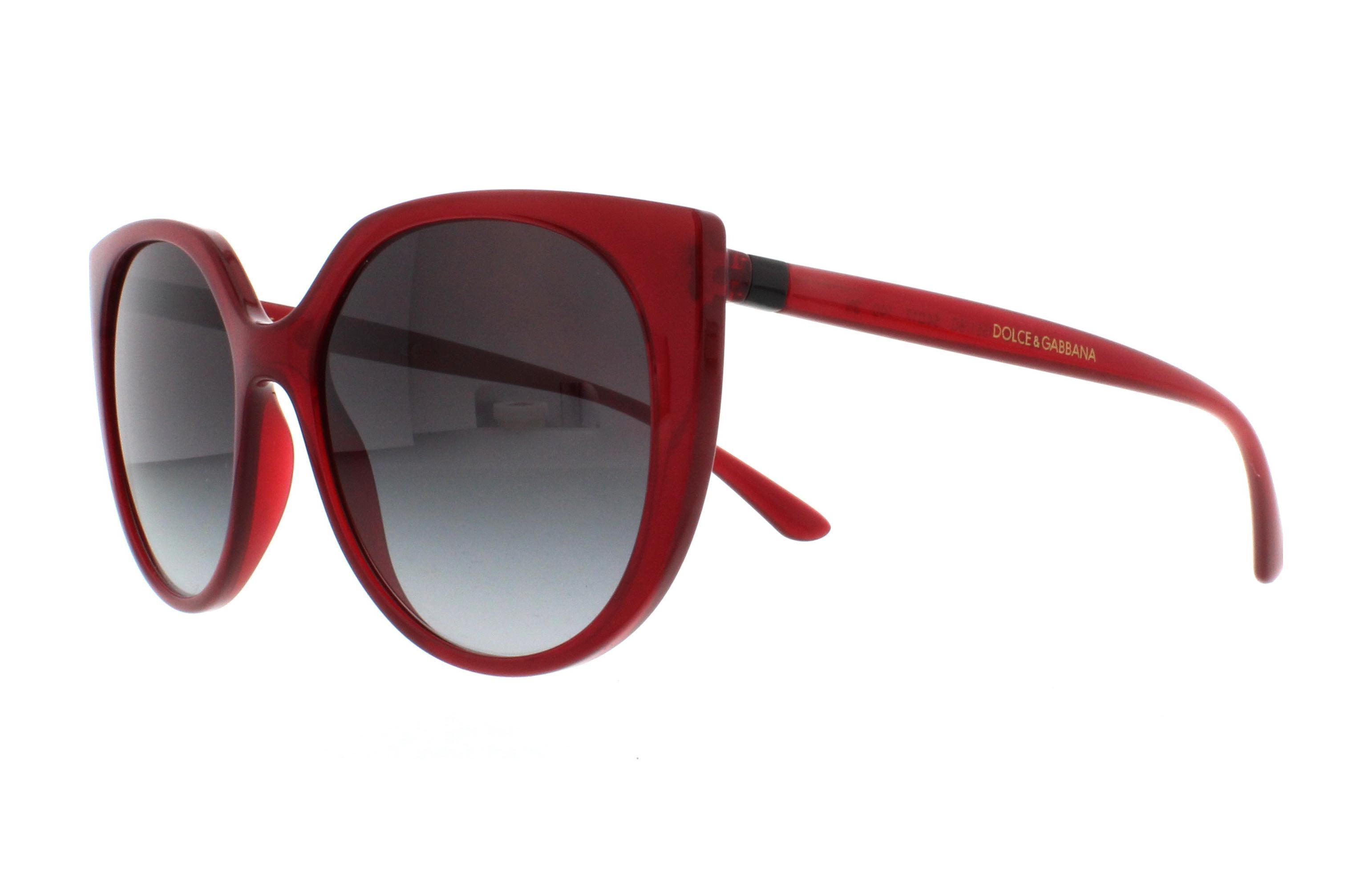 6464ec42730a DOLCE & GABBANA Sunglasses DG6119 15518G Transparent Bordeaux 54MM ...