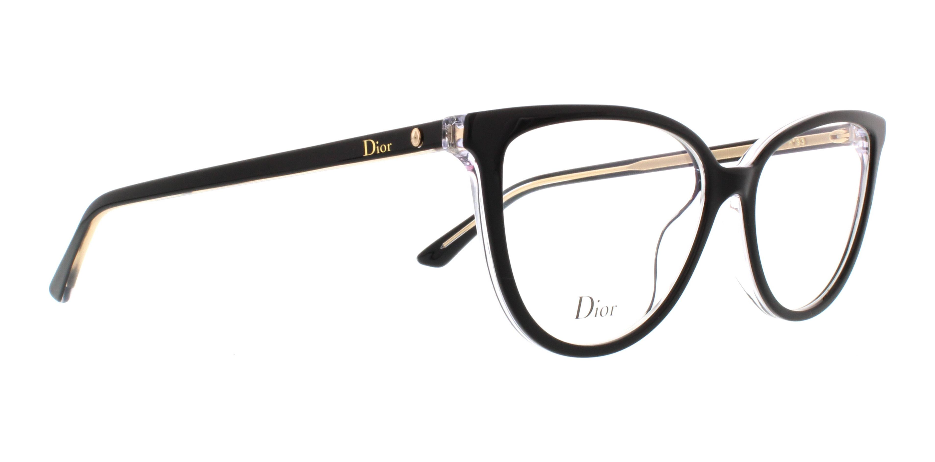 DIOR Eyeglasses MONTAIGNE 33 0TKX Black Crystal 52MM 827886008001 | eBay