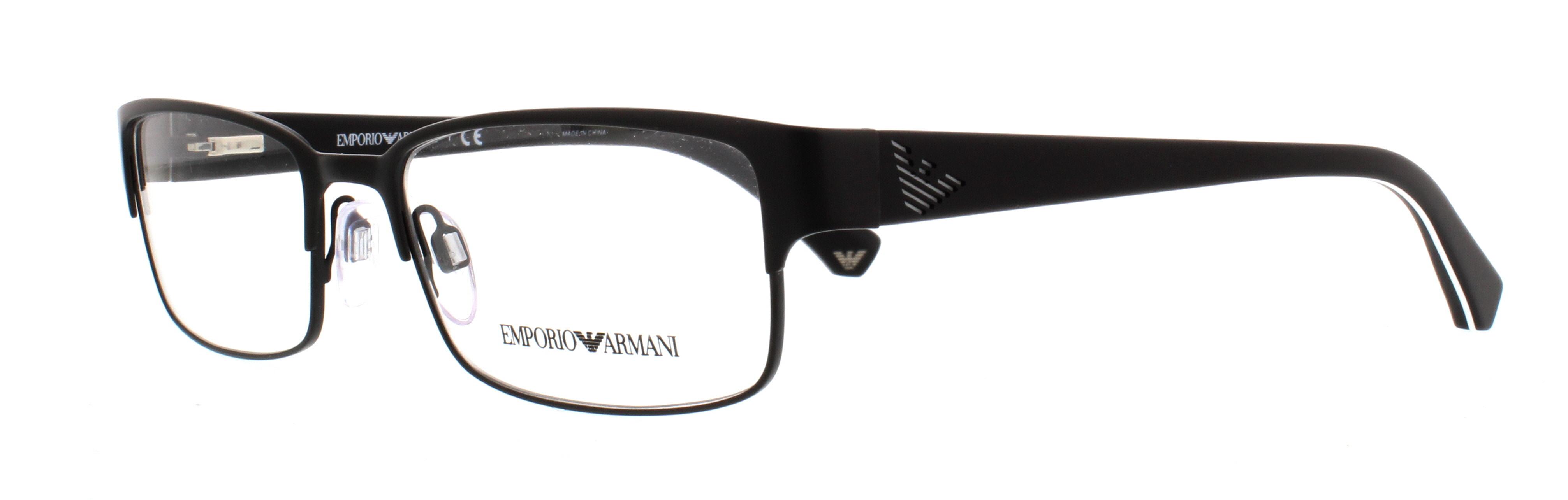 bf8568de3c EMPORIO ARMANI Eyeglasses EA1036 3109 Matte Black 53MM 8053672390629 ...
