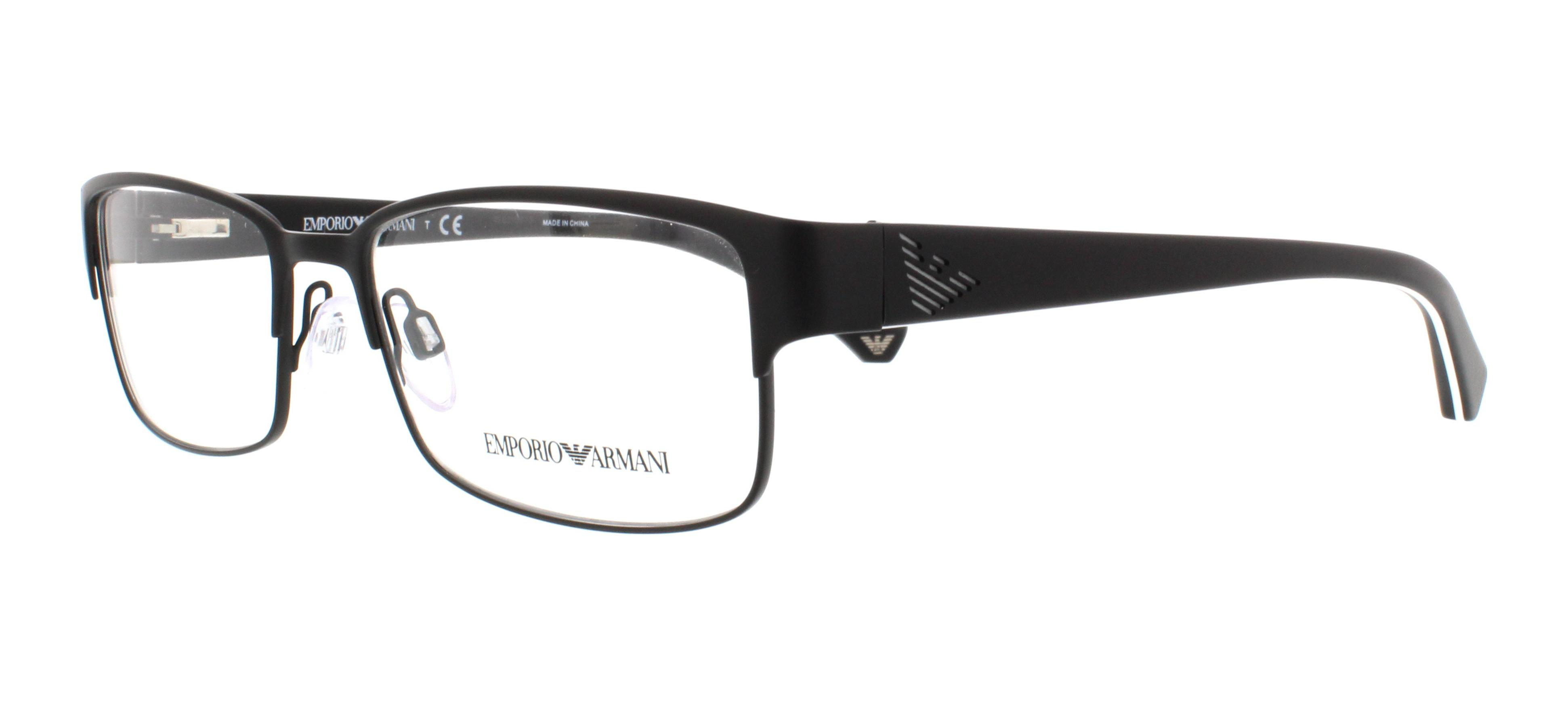 emporio armani eyeglasses ea1036 3109 matte black 55mm - Emporio Armani Frames