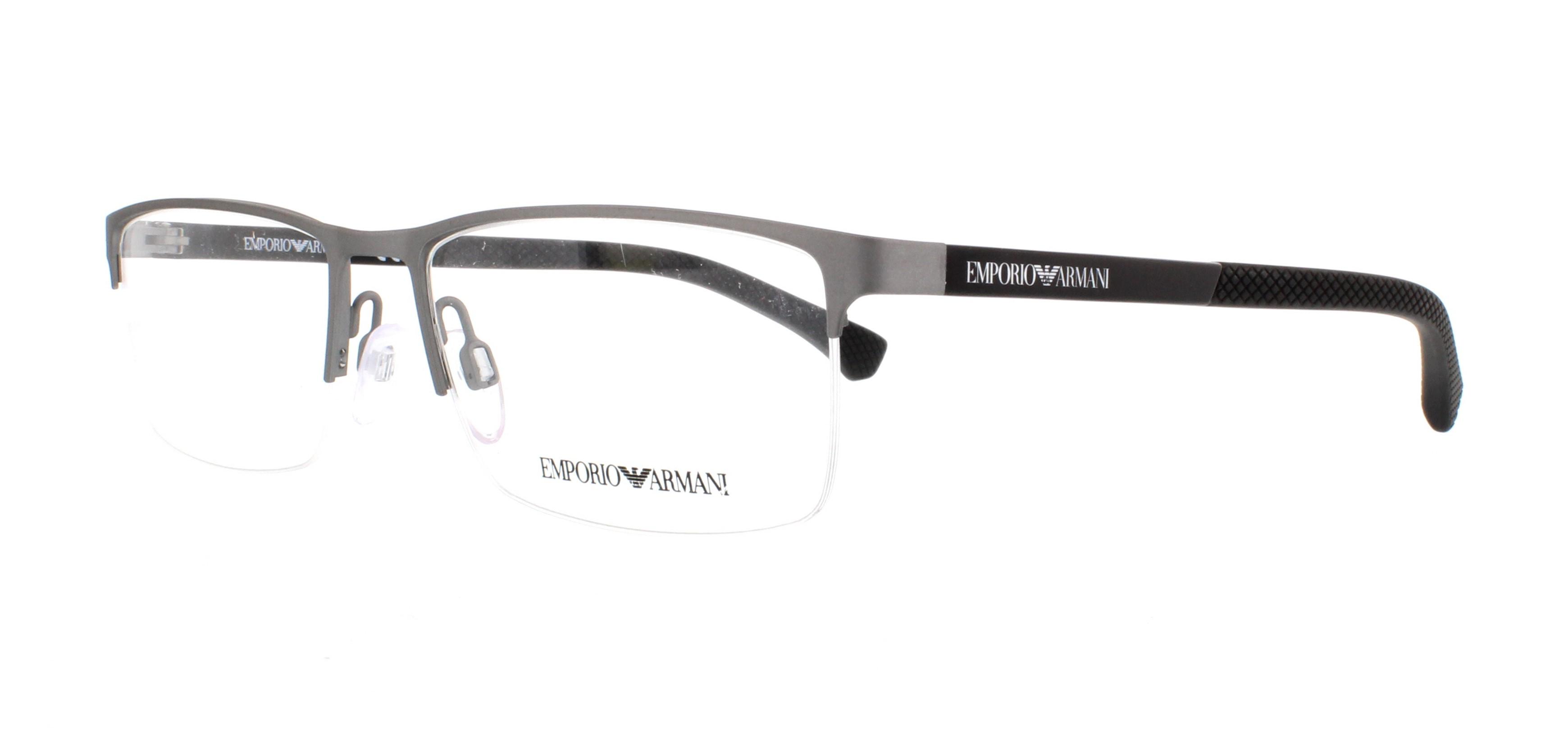 902150986f83 EMPORIO ARMANI Eyeglasses EA1041 3130 Gunmetal Rubber 55MM ...