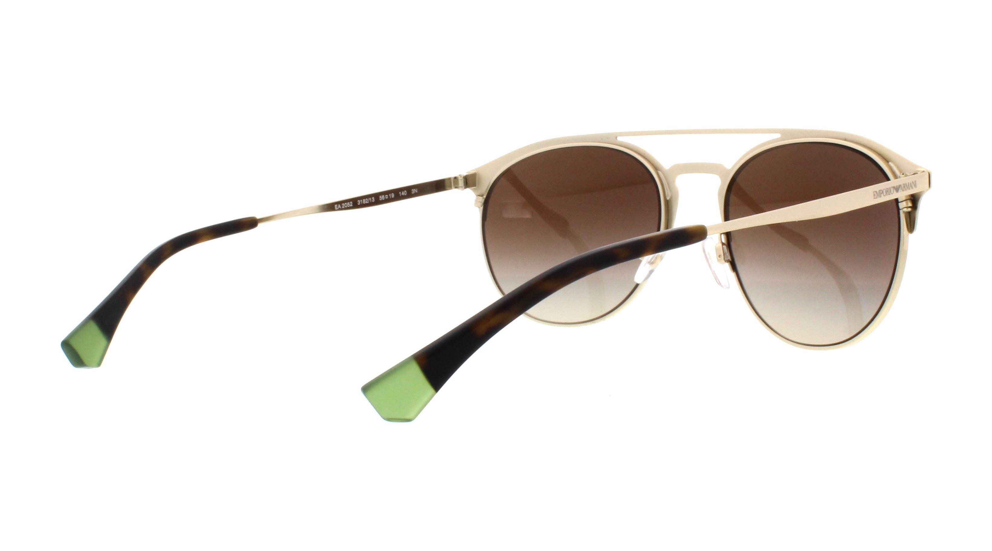84b50db7c8ce EMPORIO ARMANI Sunglasses EA2052 318213 Mt Dark Brown Pale Gold 56MM ...