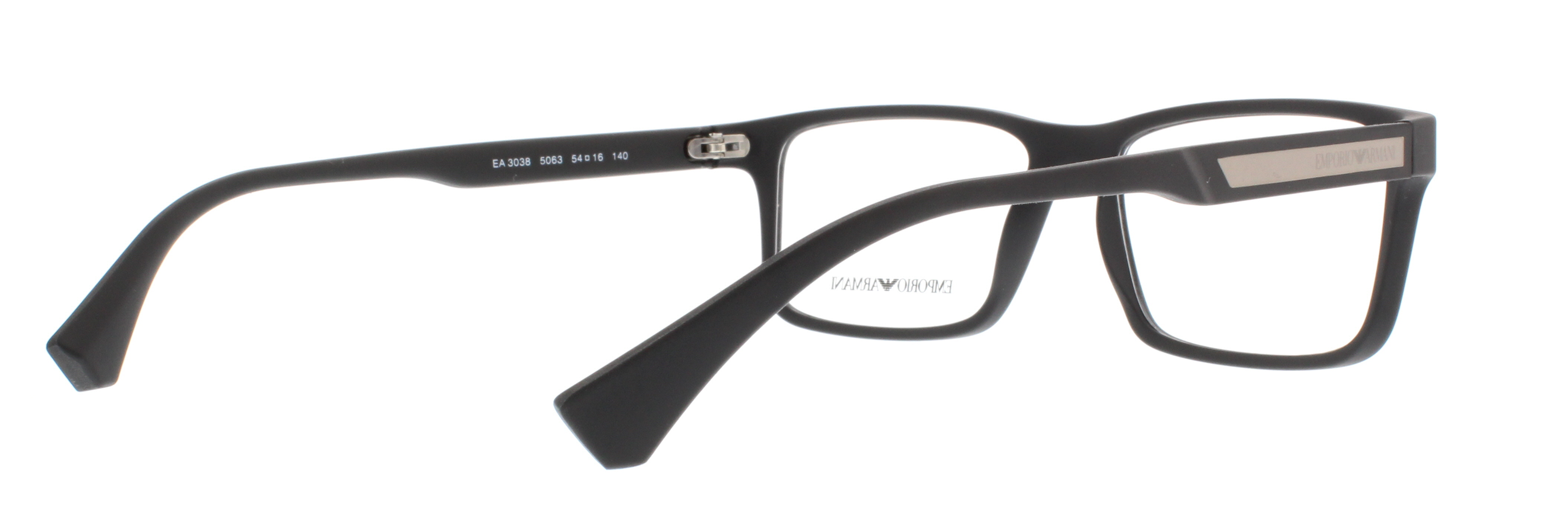EMPORIO ARMANI Eyeglasses EA3038 5063 Black Rubber 54MM ...