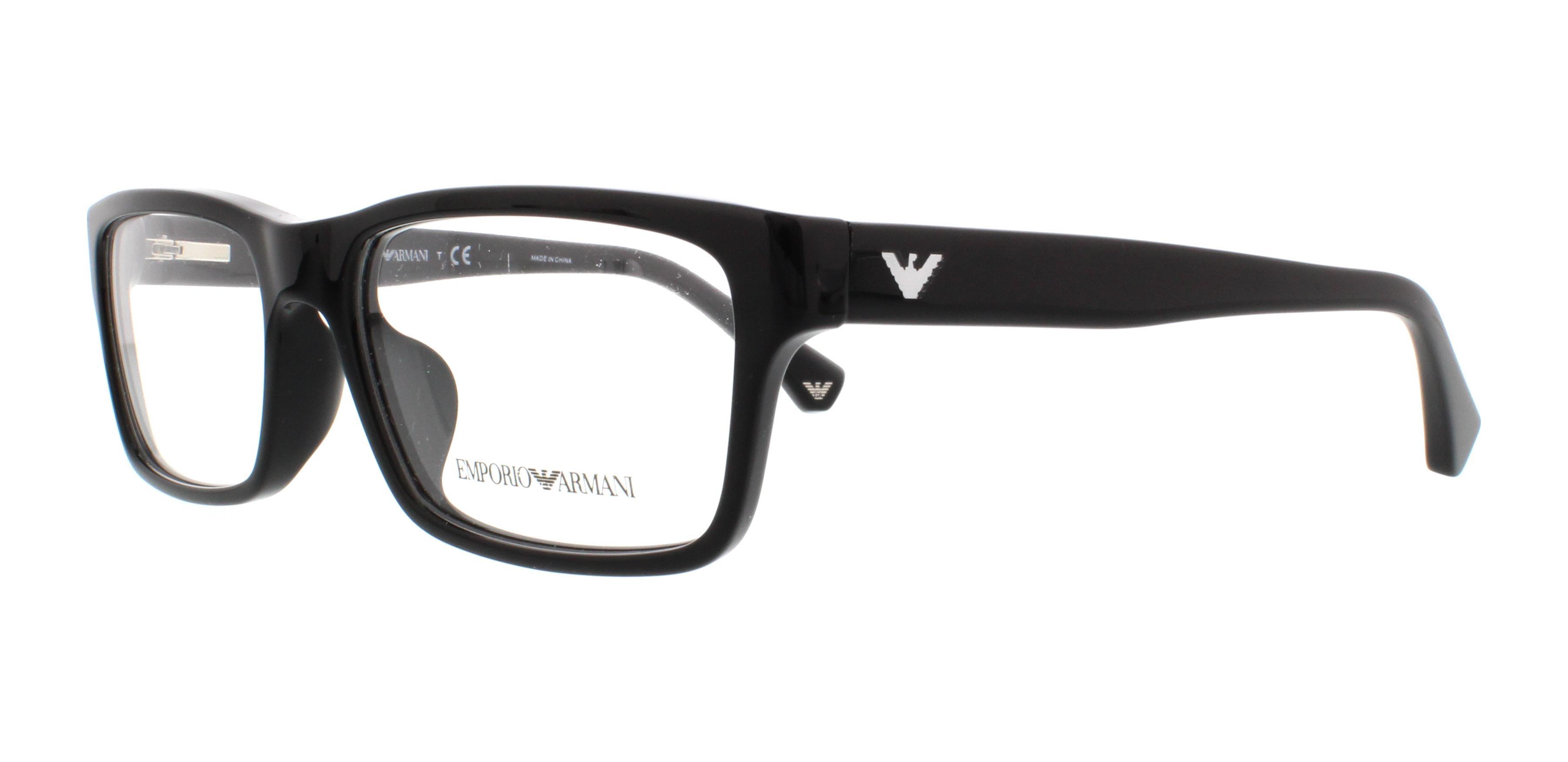 EMPORIO ARMANI Eyeglasses EA3050F 5017 Black 55MM 8053672376081 | eBay