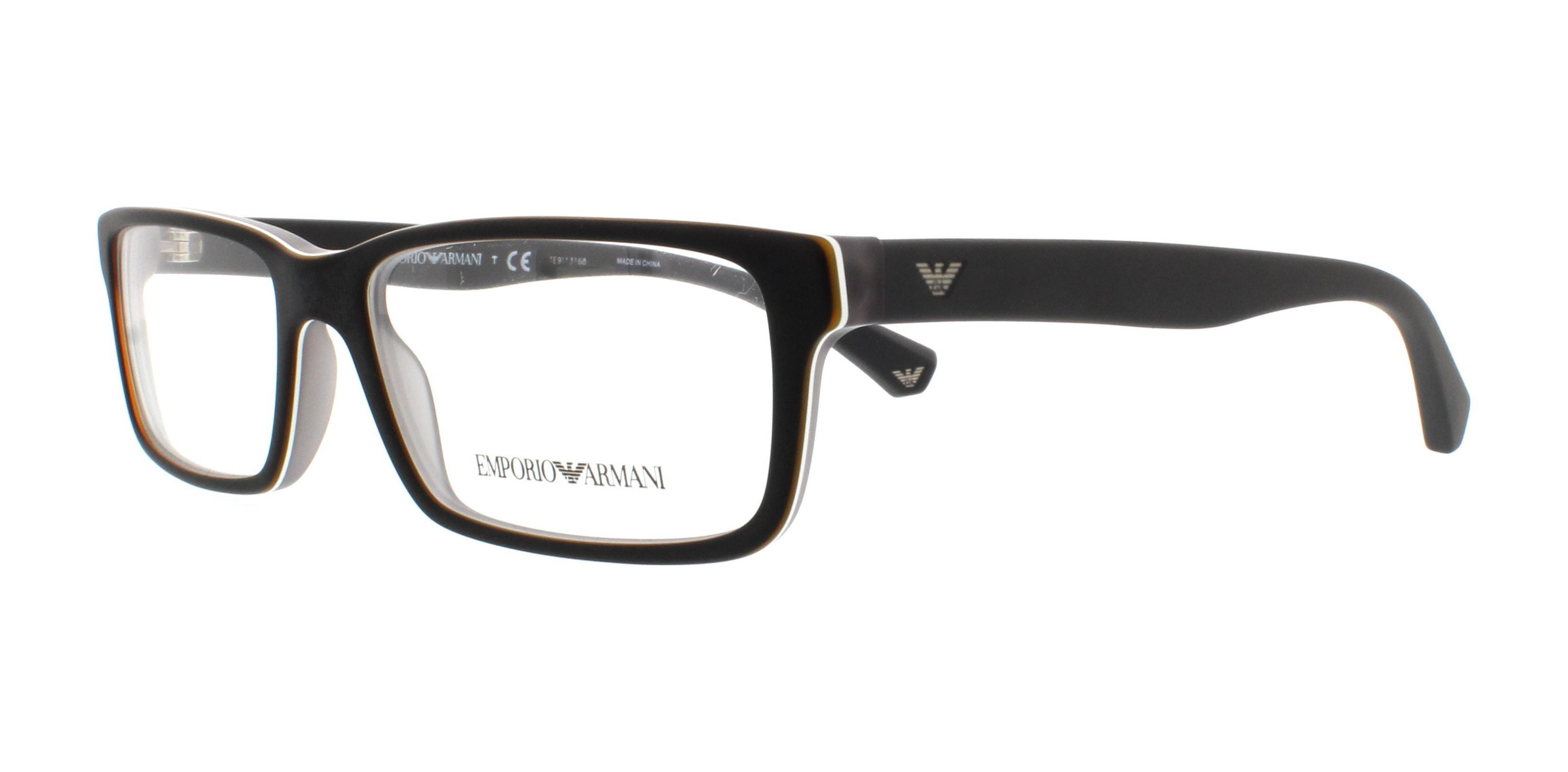 EMPORIO ARMANI Eyeglasses EA3061 5390 Black/Matte Grey 55MM ...