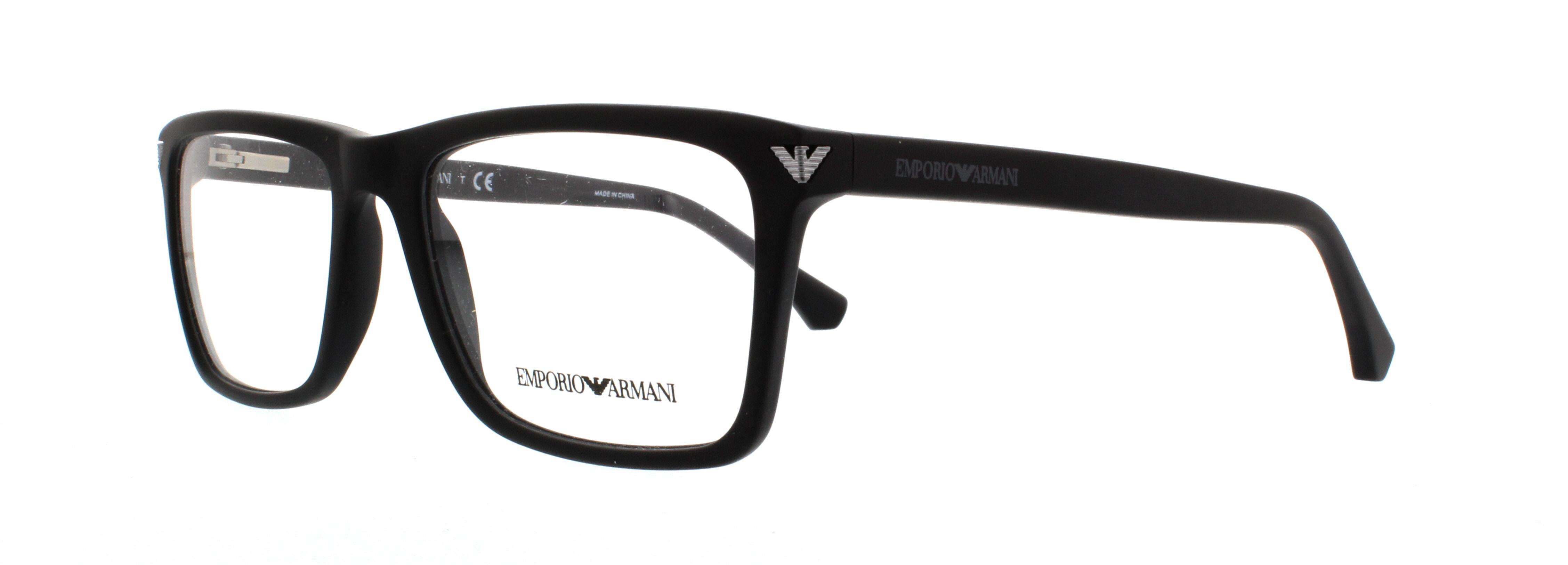 EMPORIO ARMANI Eyeglasses EA3071 5042 Matte Black 55MM 8053672467246 ...