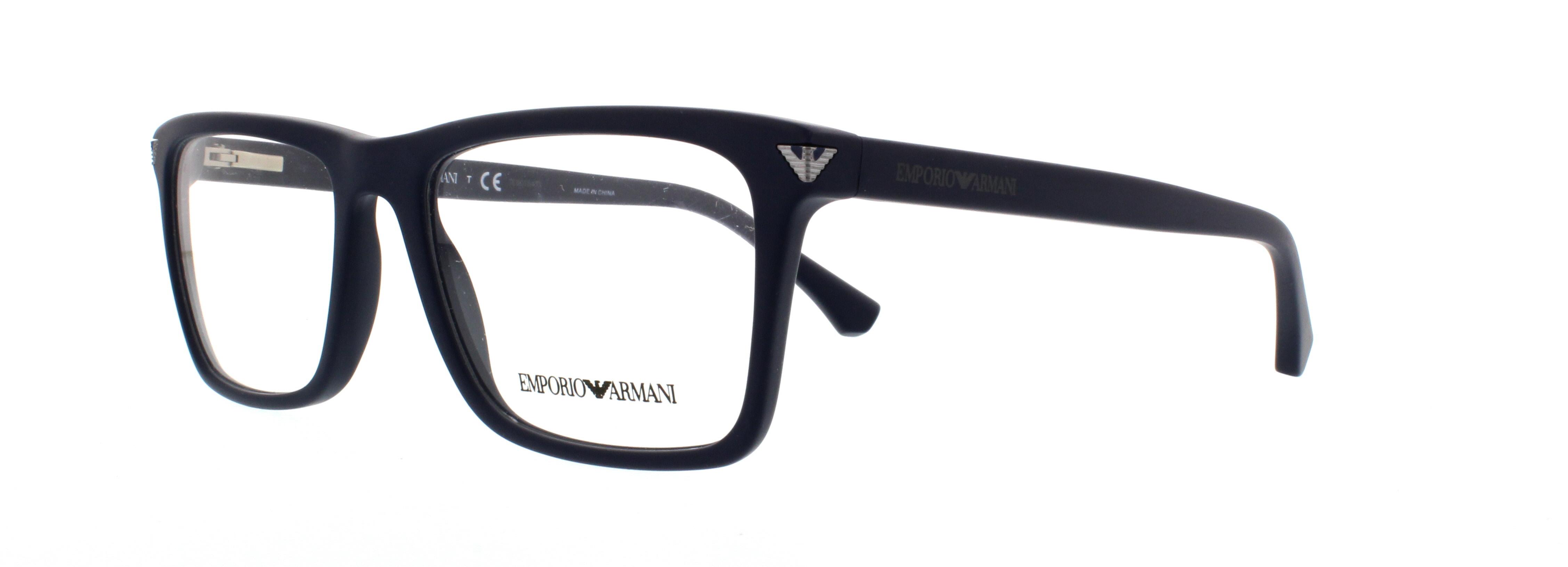 emporio armani eyeglasses ea3071 5452 matte blue 55mm - Emporio Armani Frames