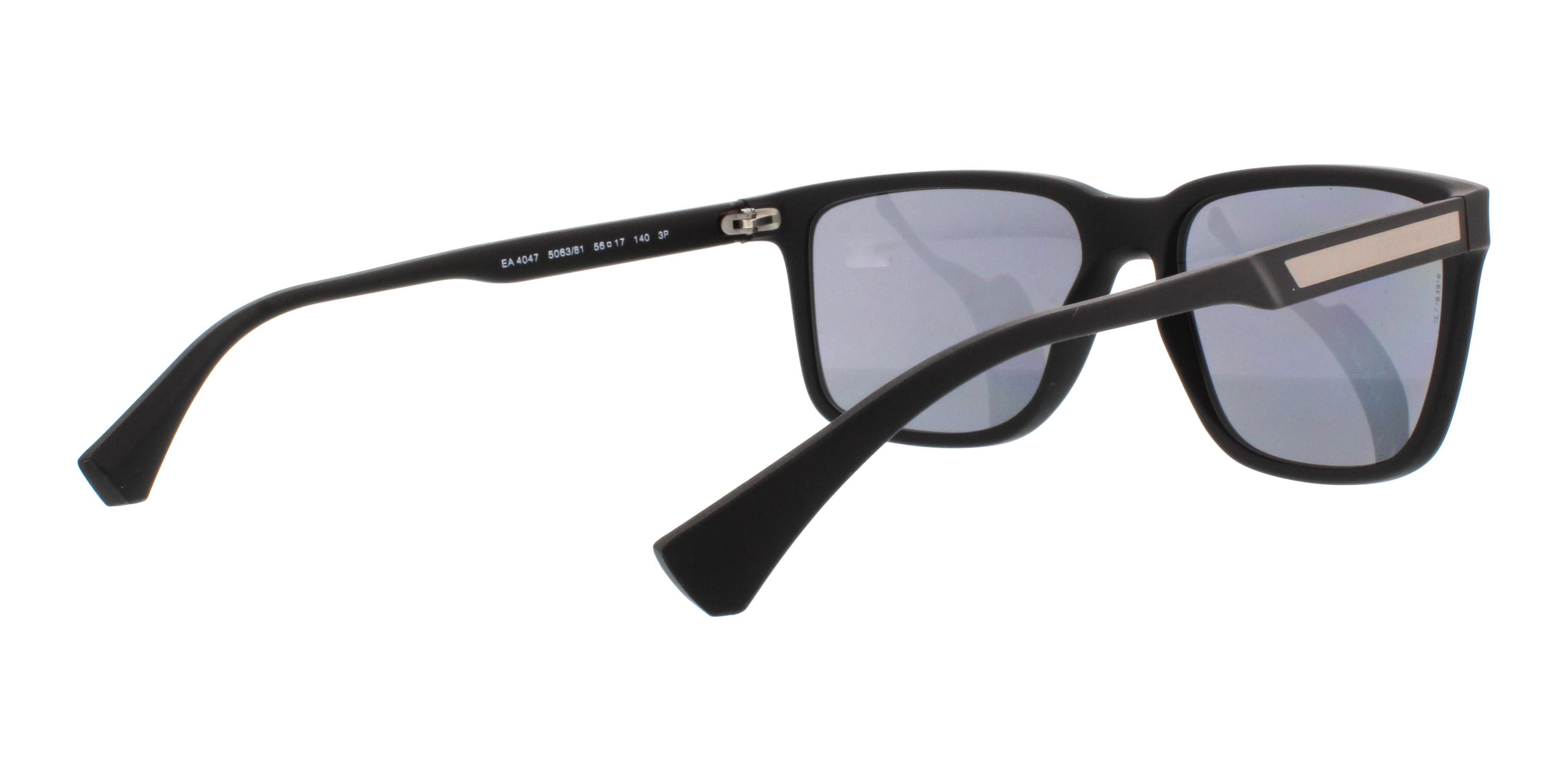 7954bce6d3dc EMPORIO ARMANI Sunglasses EA4047 506381 Black Rubber 56MM