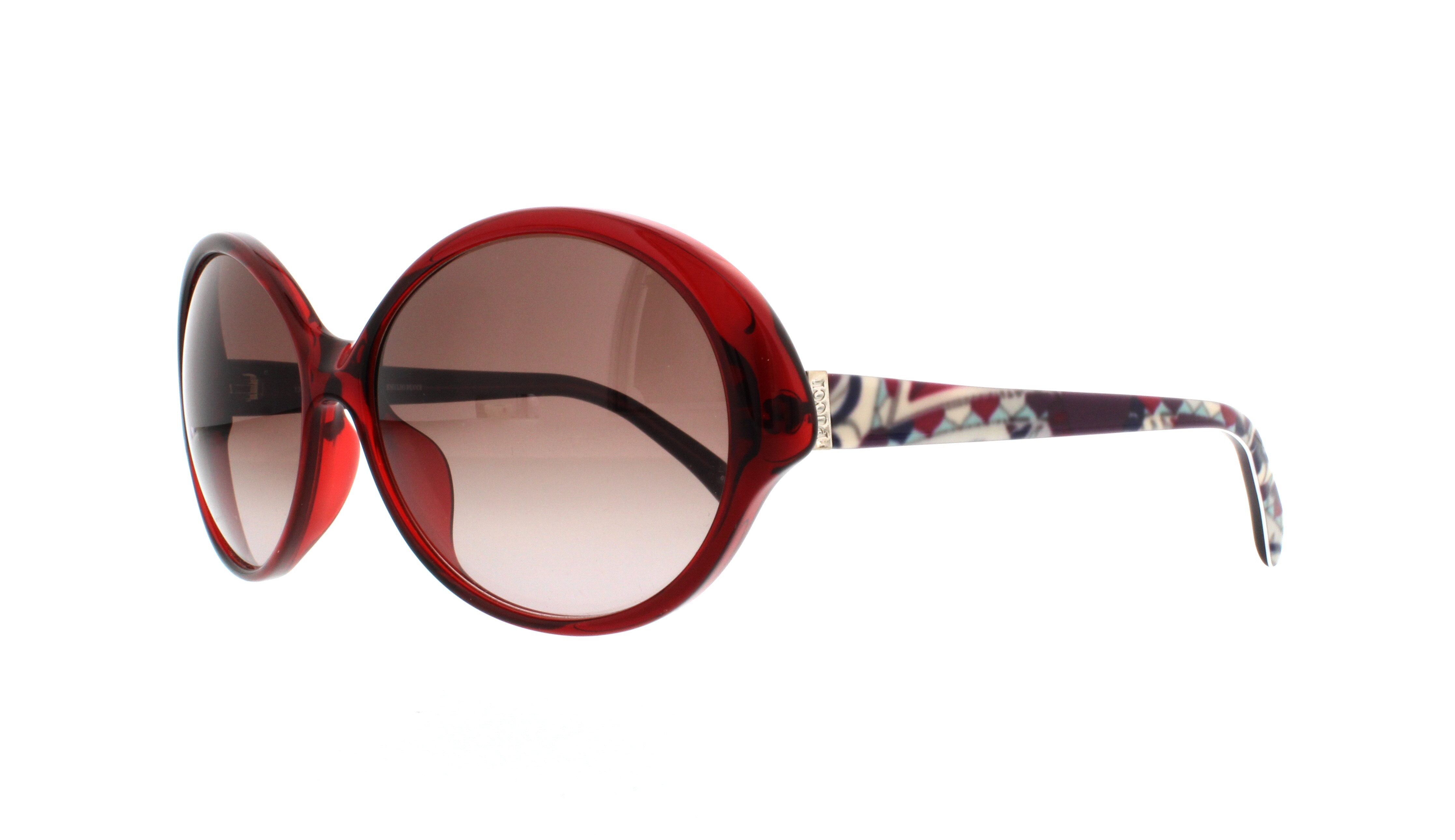 EMILIO PUCCI Sunglasses 672S 604 Burgundy Marble 59MM 883901044553 ...