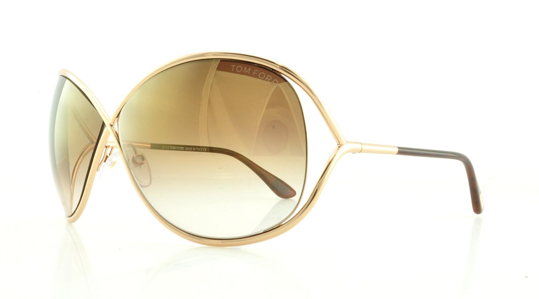 4ca184e46c57b TOM FORD Sunglasses FT0130 MIRANDA 28G Shiny Rose Gold 68MM