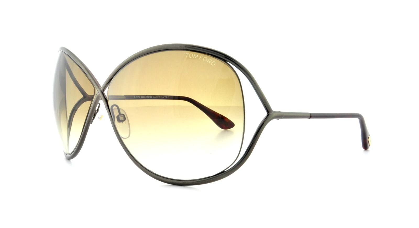 9e93463d66b Details about TOM FORD Sunglasses FT0130 MIRANDA 36F Shiny Dark Bronze 68MM