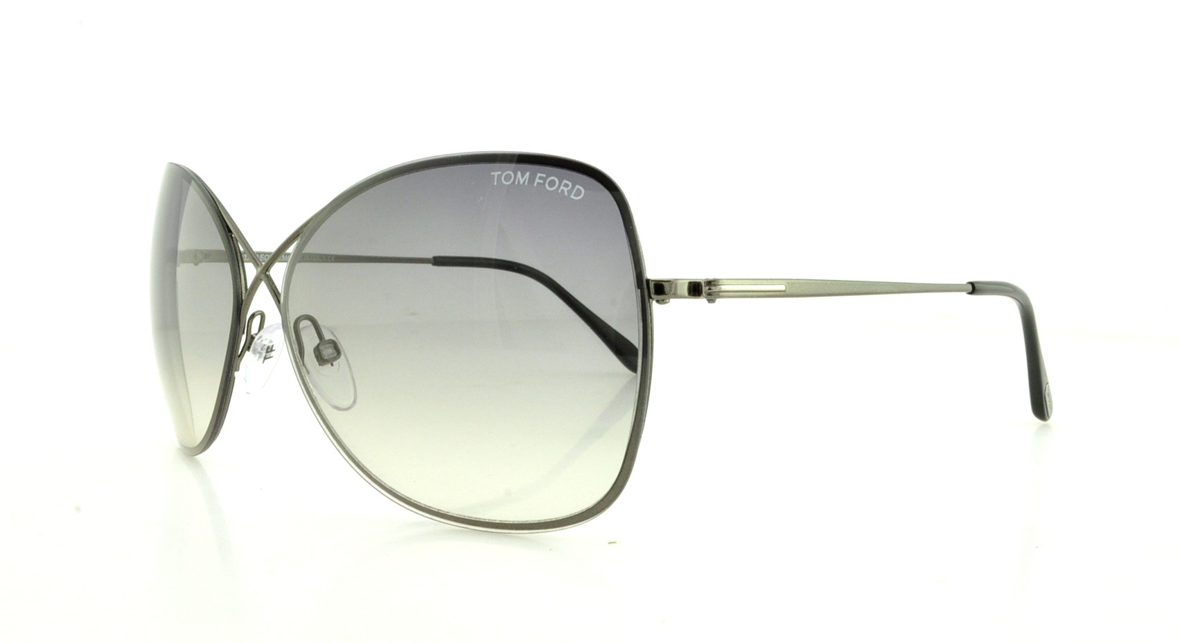 a03982d8d7815 TOM FORD Sunglasses FT0250 COLETTE 08C Shiny Gumetal 63MM ...