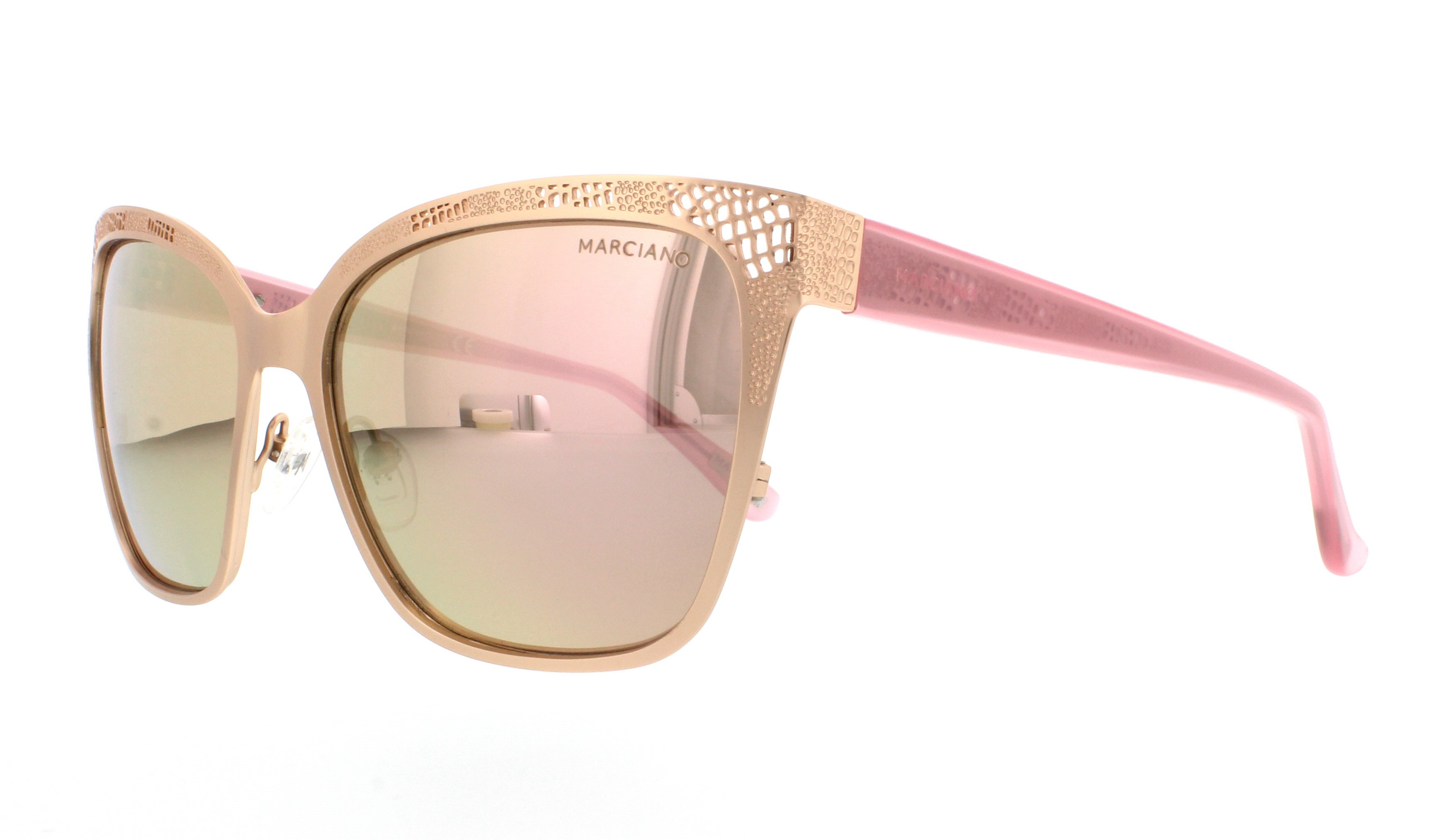 Guess By Marciano Sunglasses Gm0742 29g Matte Rose Gold