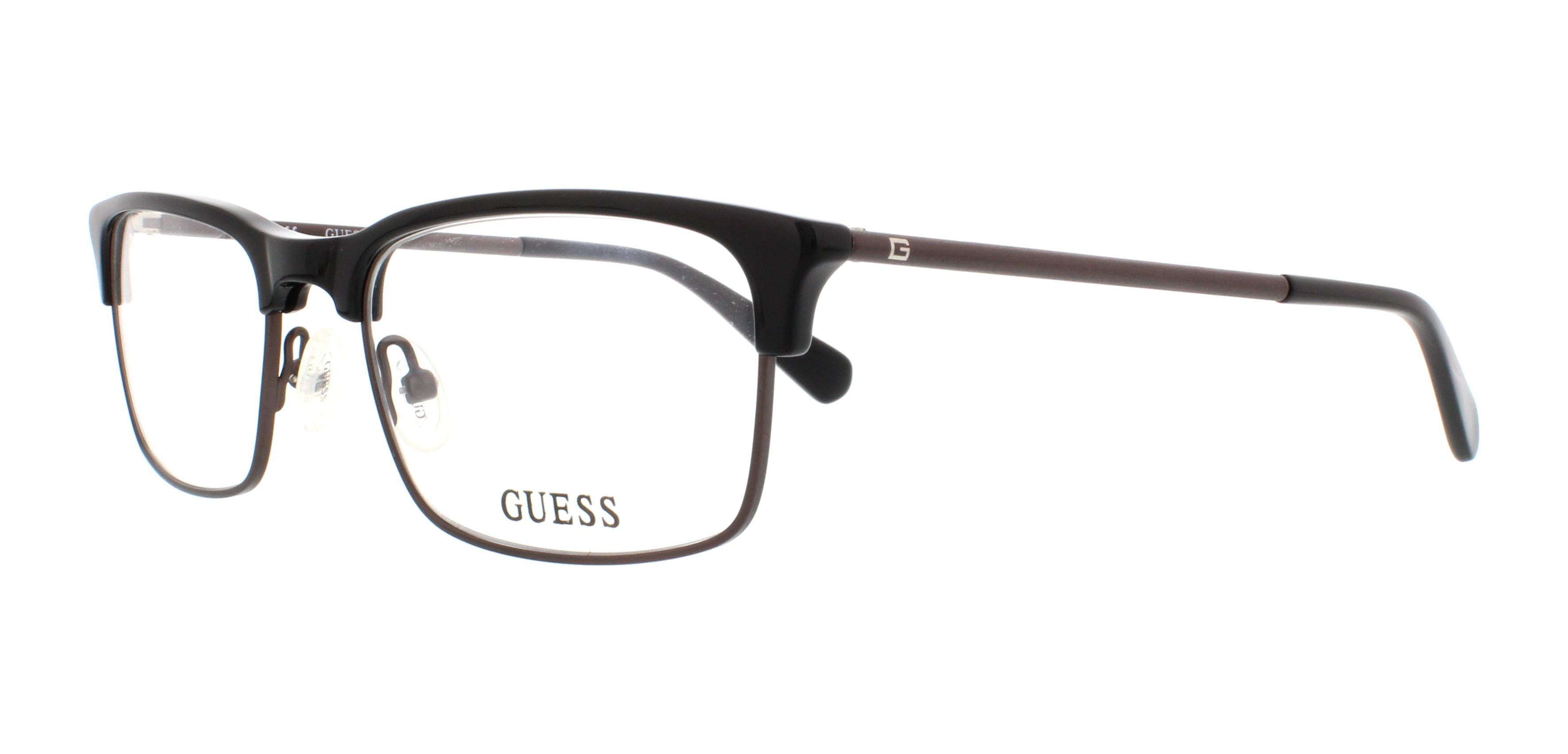 GUESS Eyeglasses GU1886 001 Shiny Black 53MM 664689735198 | eBay