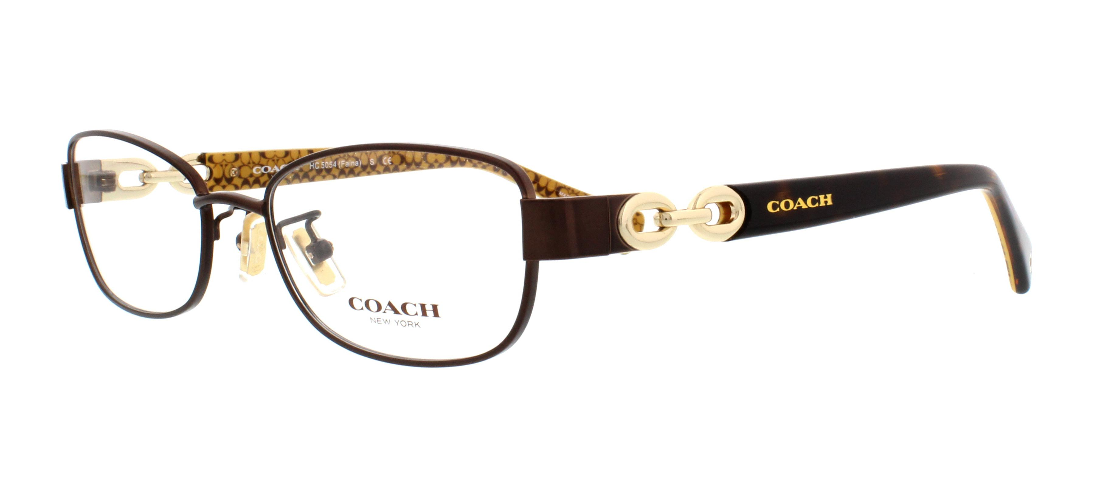 0d52068c2a ... spain coach eyeglasses hc5054 faina 9187 satin brown tortoise gold 51mm  2d613 b6fd7
