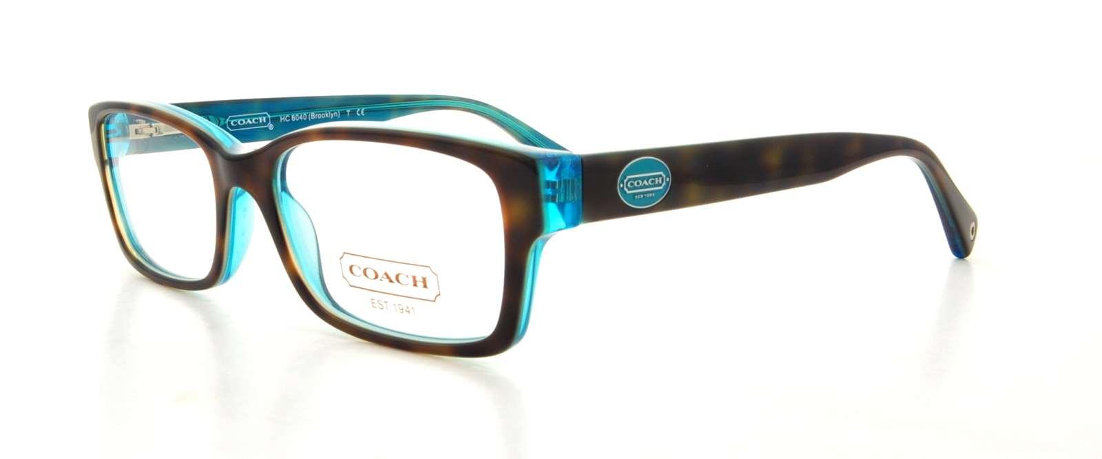 b88ac95f73 Details about COACH Eyeglasses HC6040 BROOKLYN 5116 Tortoise Teal 50MM